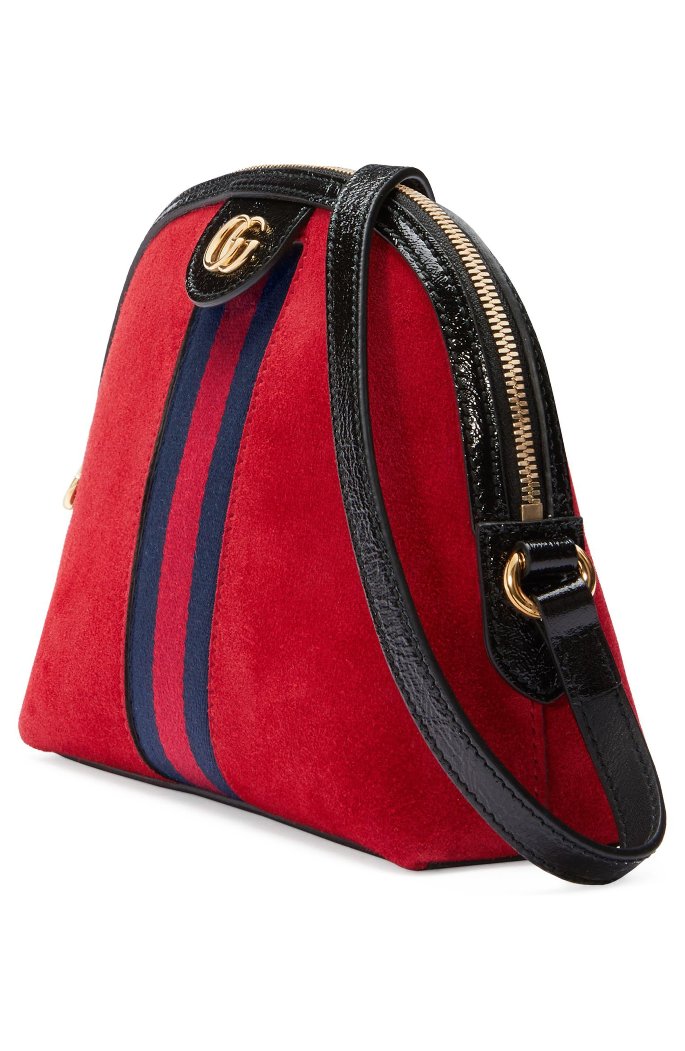 Alternate Image 4  - Gucci Small Suede Shoulder Bag