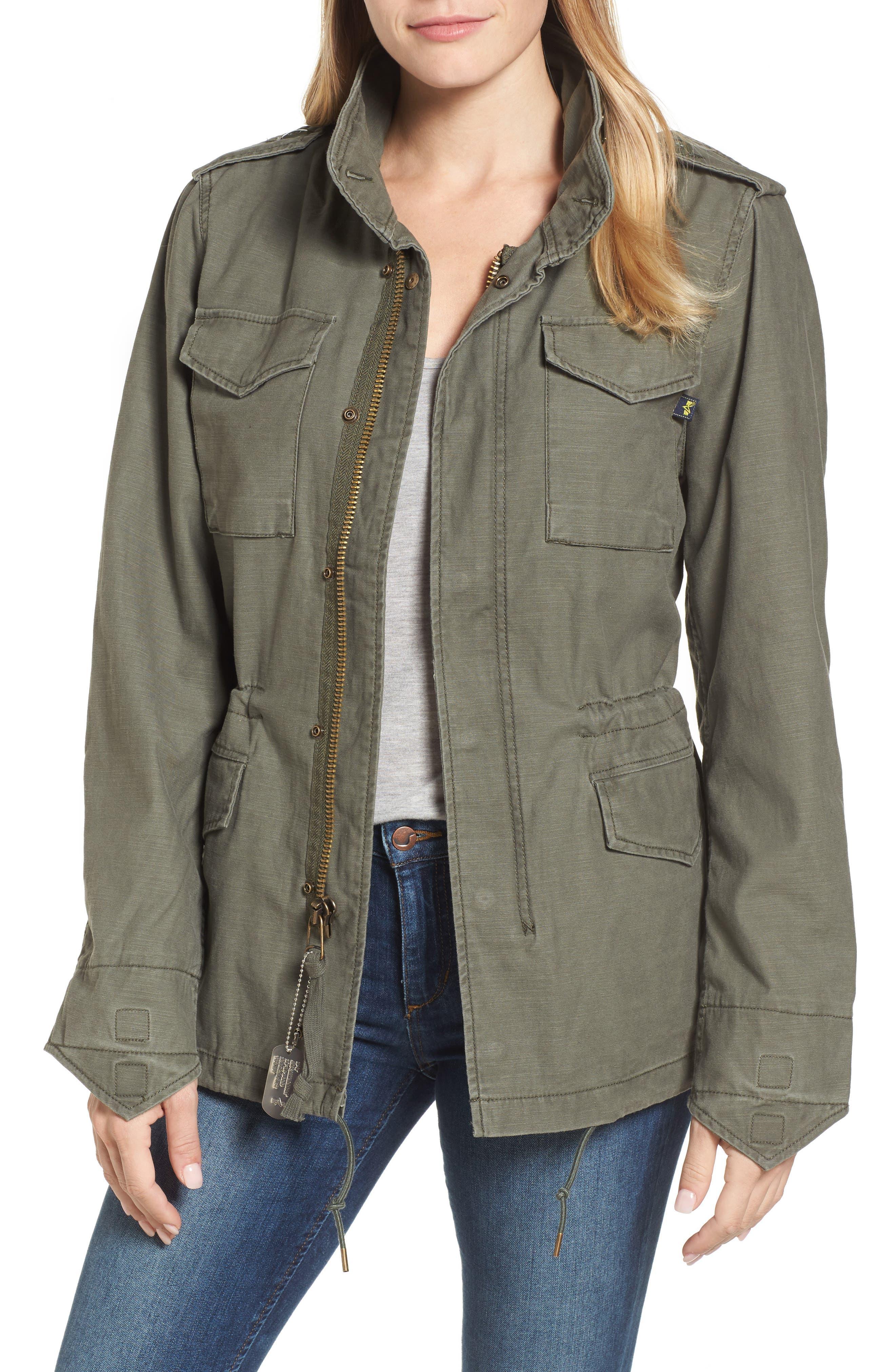 M-65 Defender Camo Field Jacket,                         Main,                         color, Olive