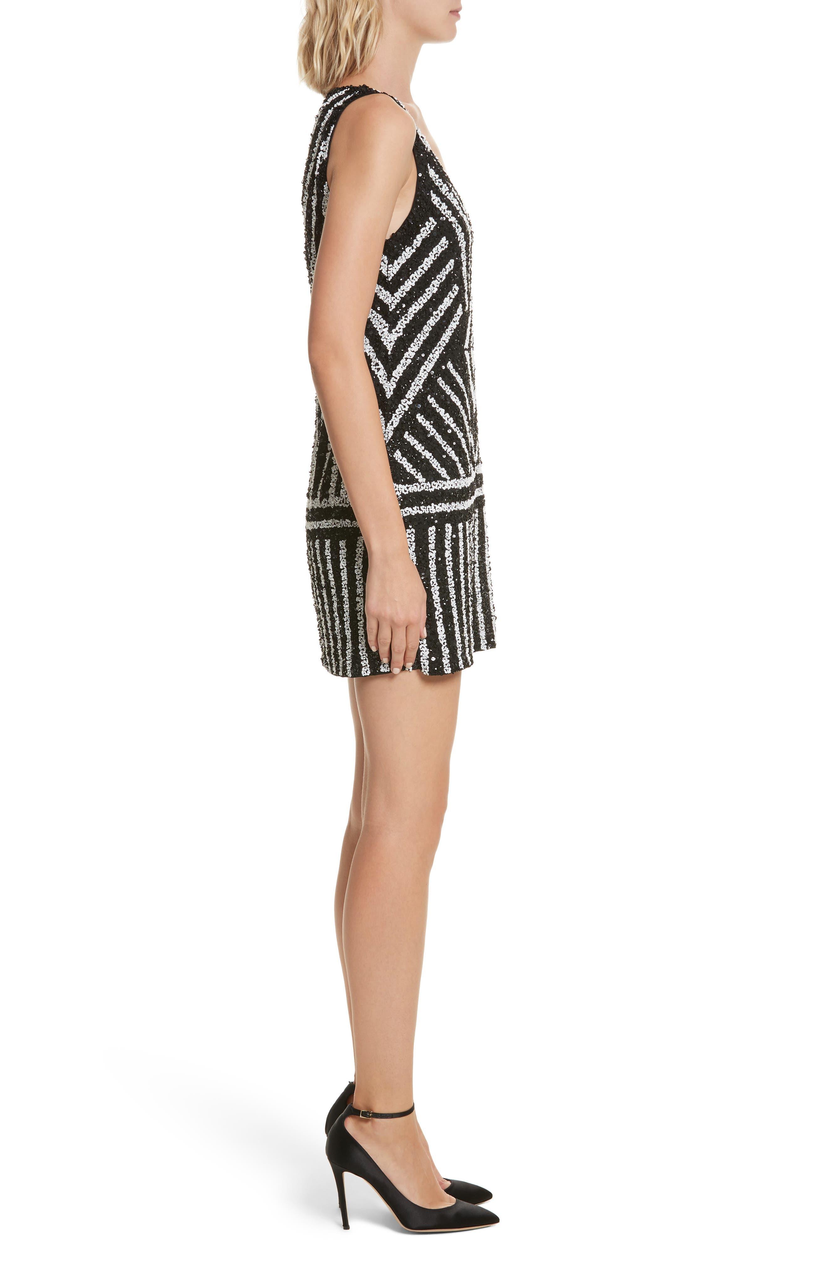 Alternate Image 4  - Alice + Olivia Venetia Embellished Shift Dress