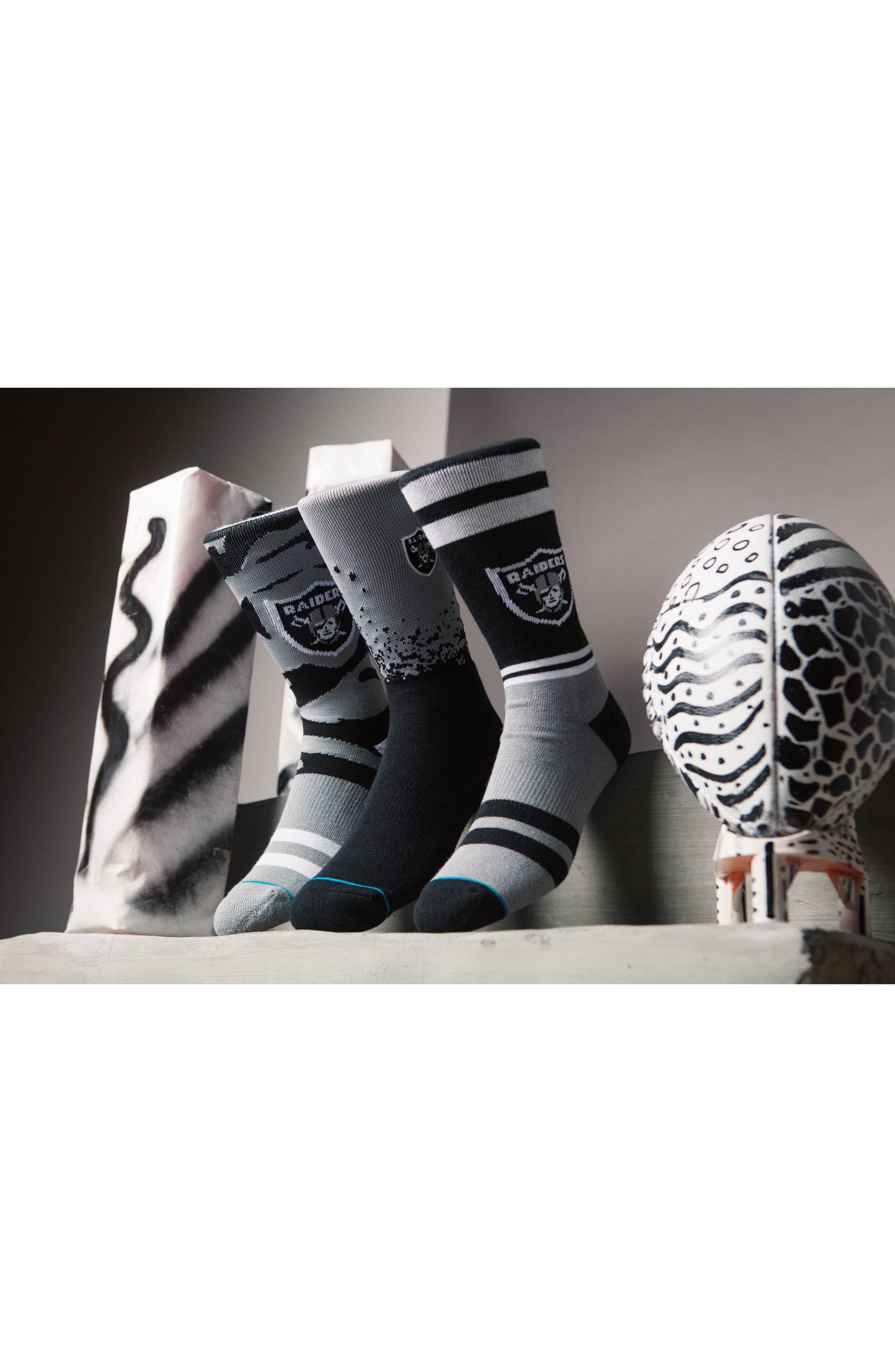 Oakland Raiders - Fade Socks,                             Alternate thumbnail 5, color,                             Black