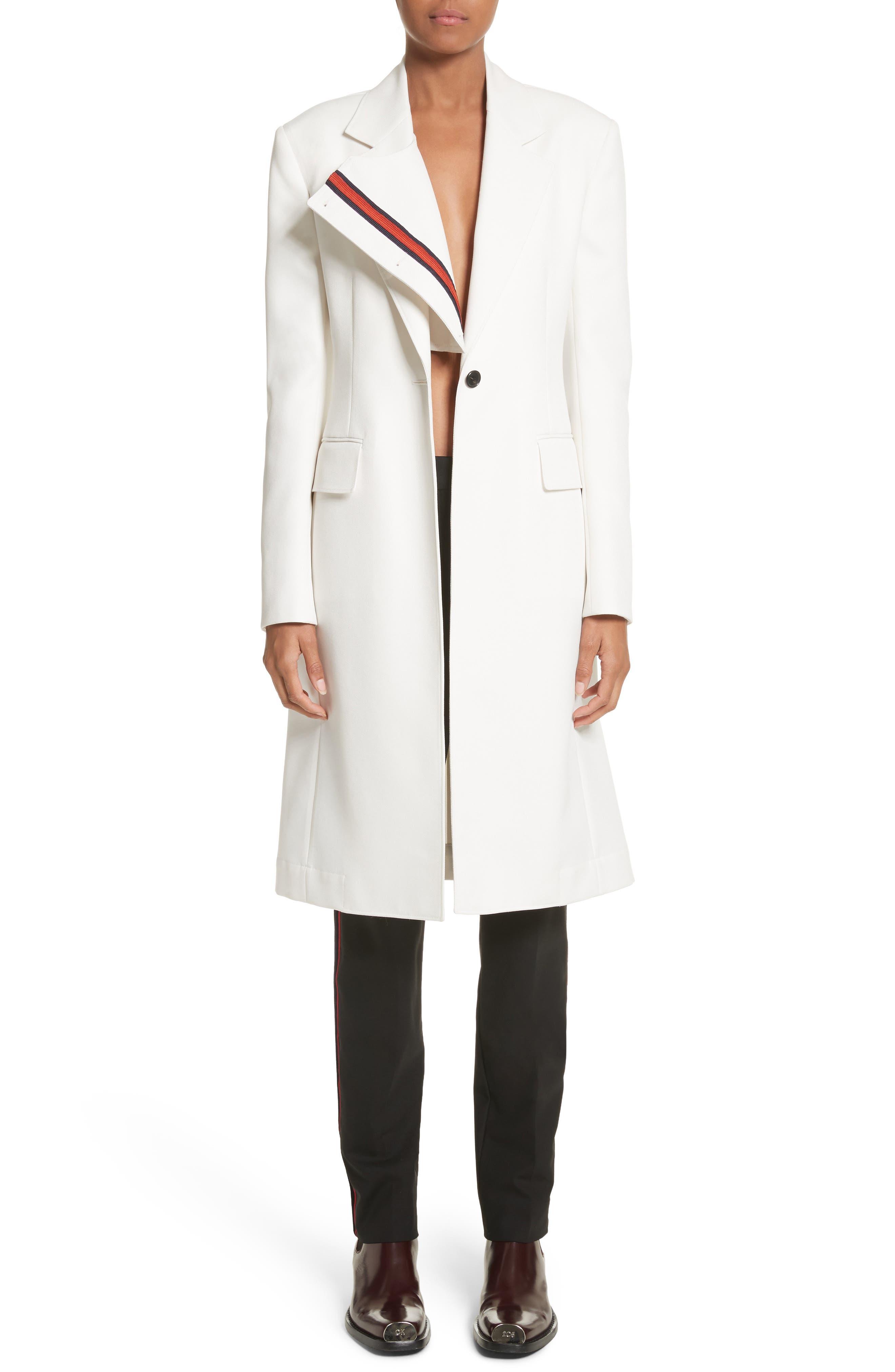 Alternate Image 1 Selected - CALVIN KLEIN 205W39NYC Uniform Stripe Coat