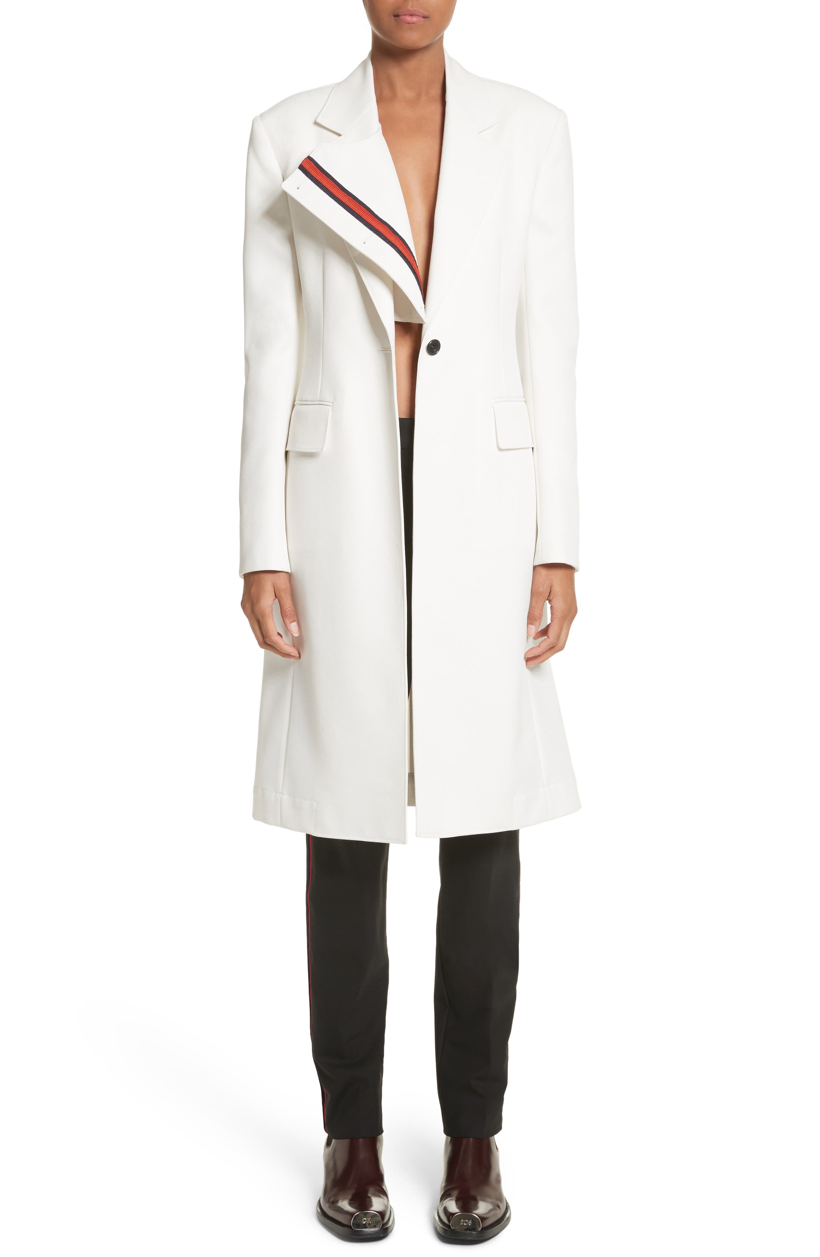 Calvin Klein 205W39NYC Uniform Stripe Coat
