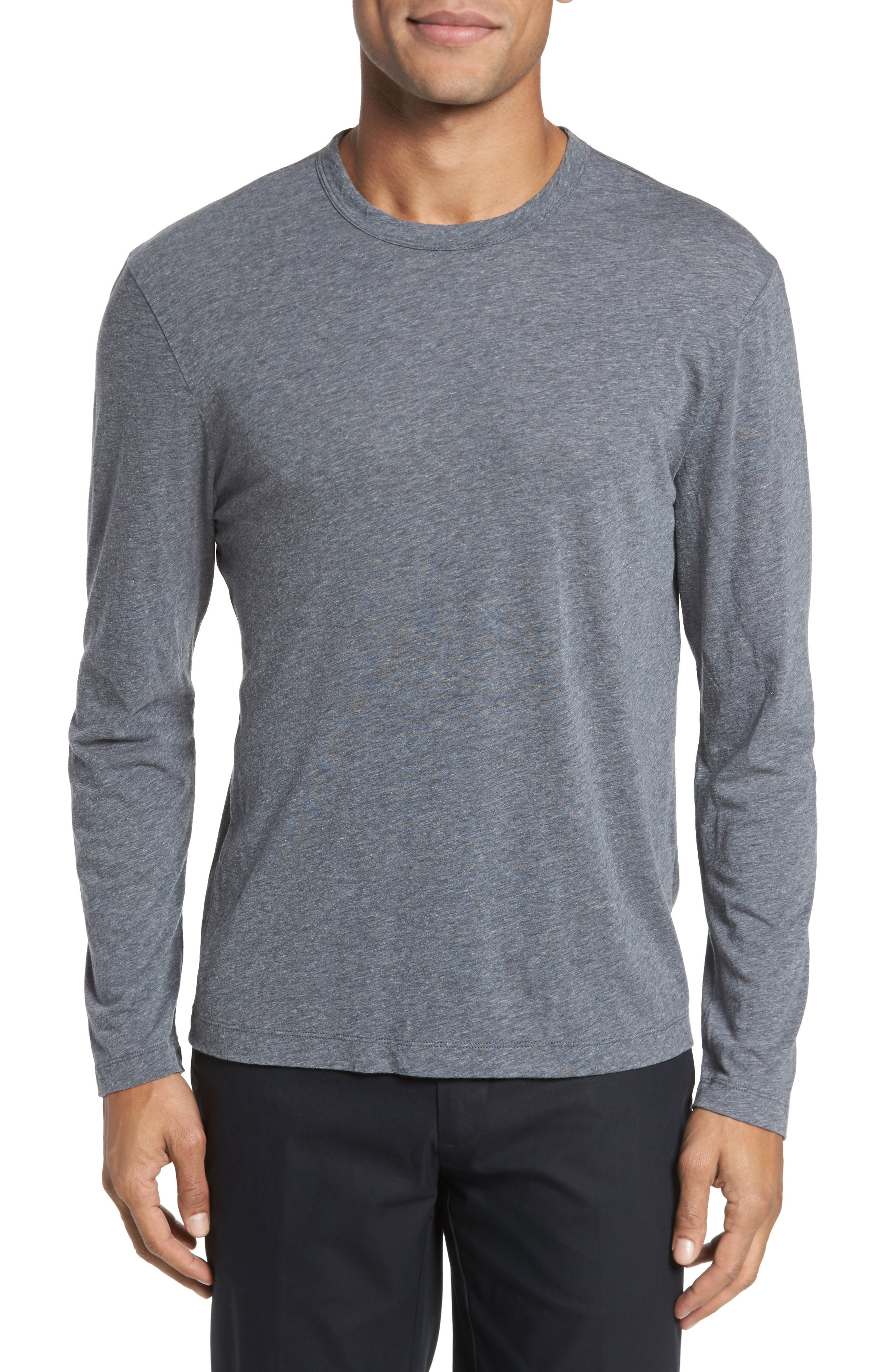 James Perse Mélange Long Sleeve Graphic T-Shirt