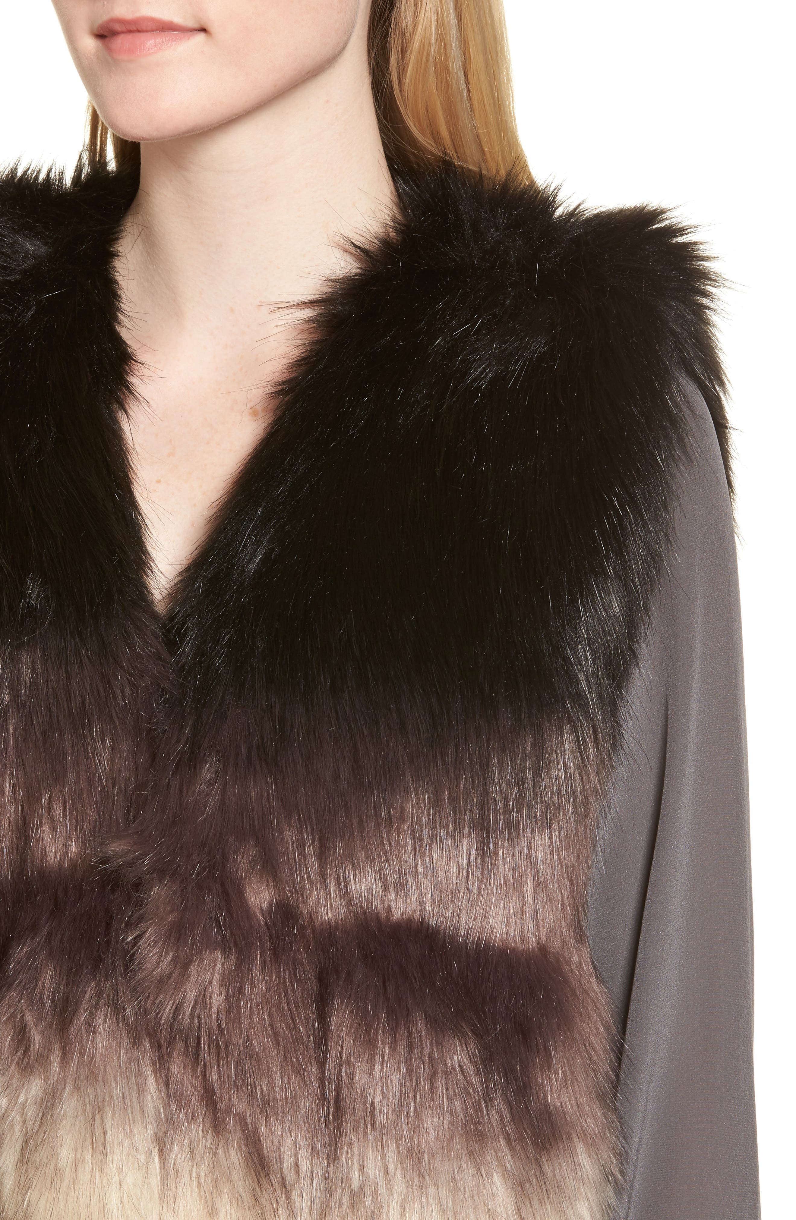 Alternate Image 4  - Sole Society Ombré Faux Fur Vest