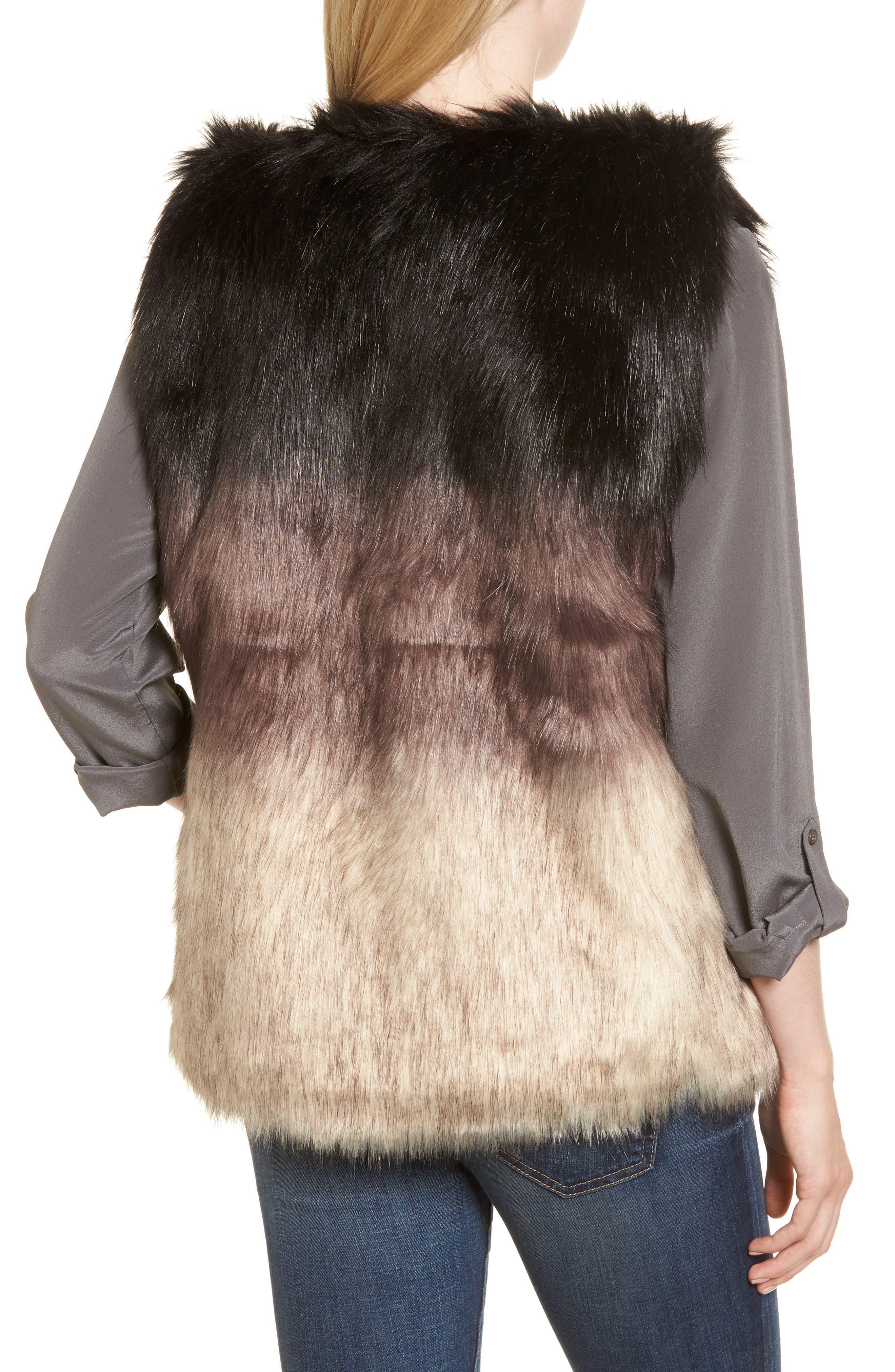 Alternate Image 2  - Sole Society Ombré Faux Fur Vest