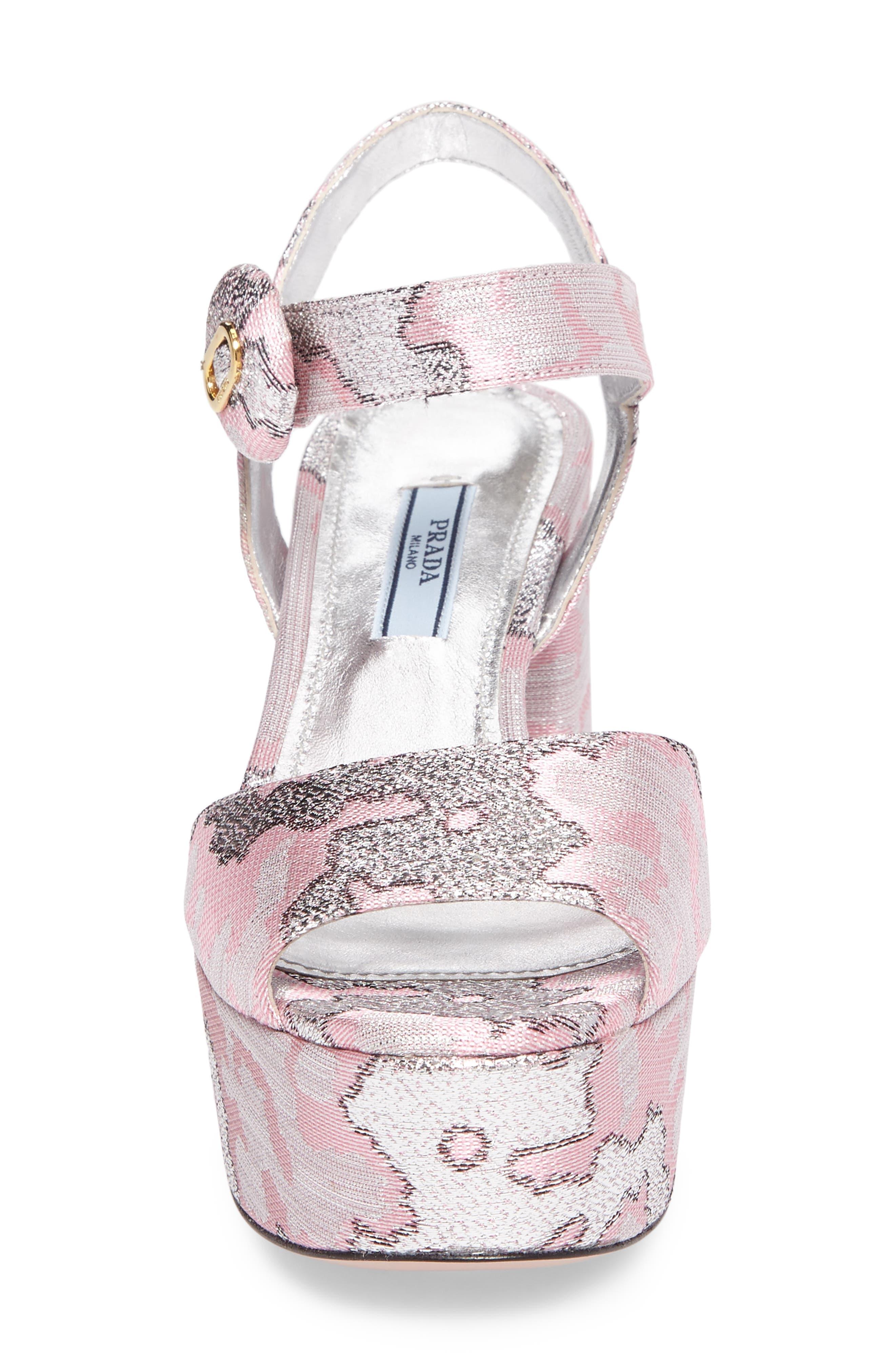 Ankle Strap Platform Sandal,                             Alternate thumbnail 4, color,                             Pink