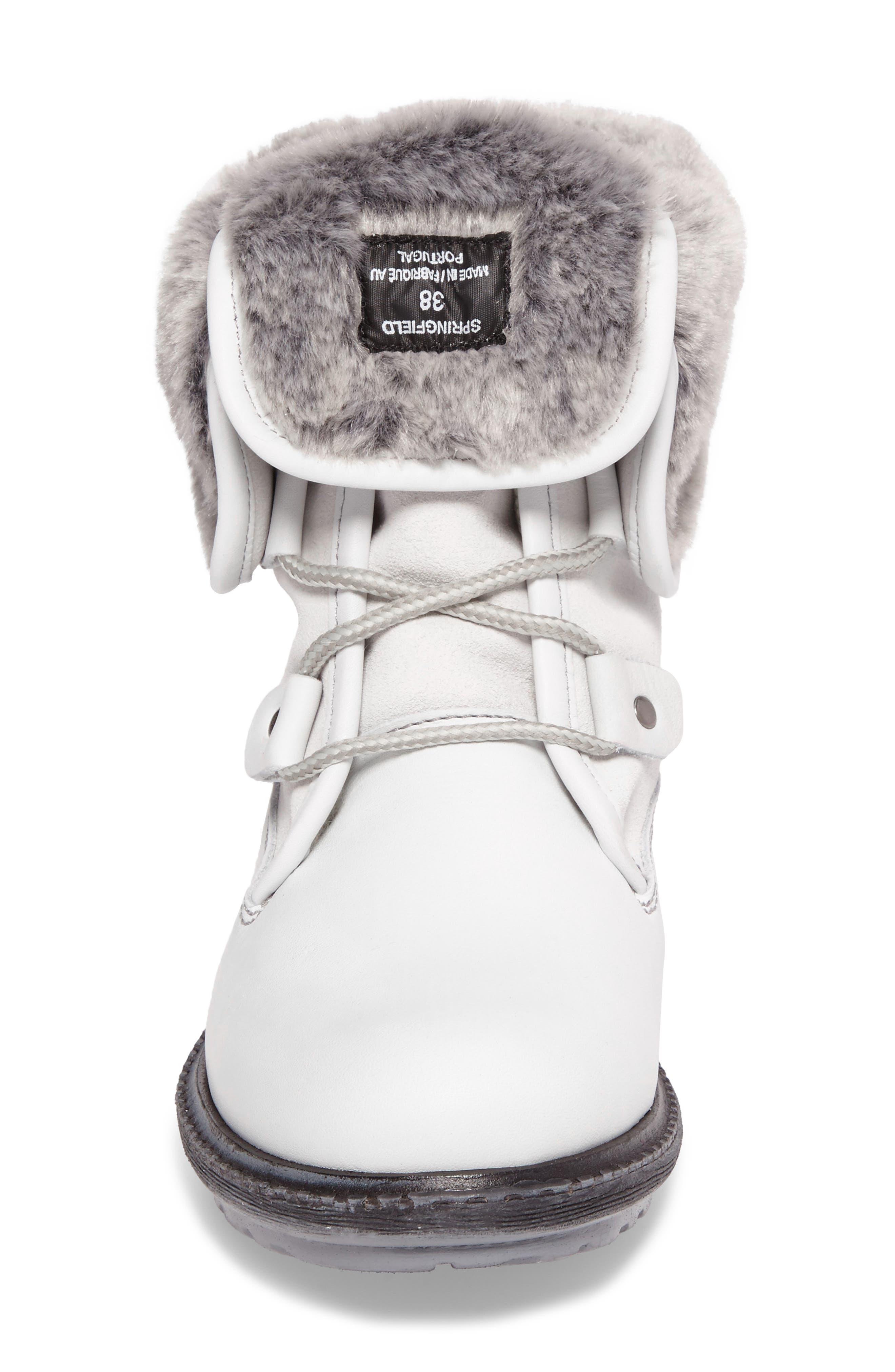 Springfield Waterproof Winter Boot,                             Alternate thumbnail 4, color,                             White/ Grey/ Black