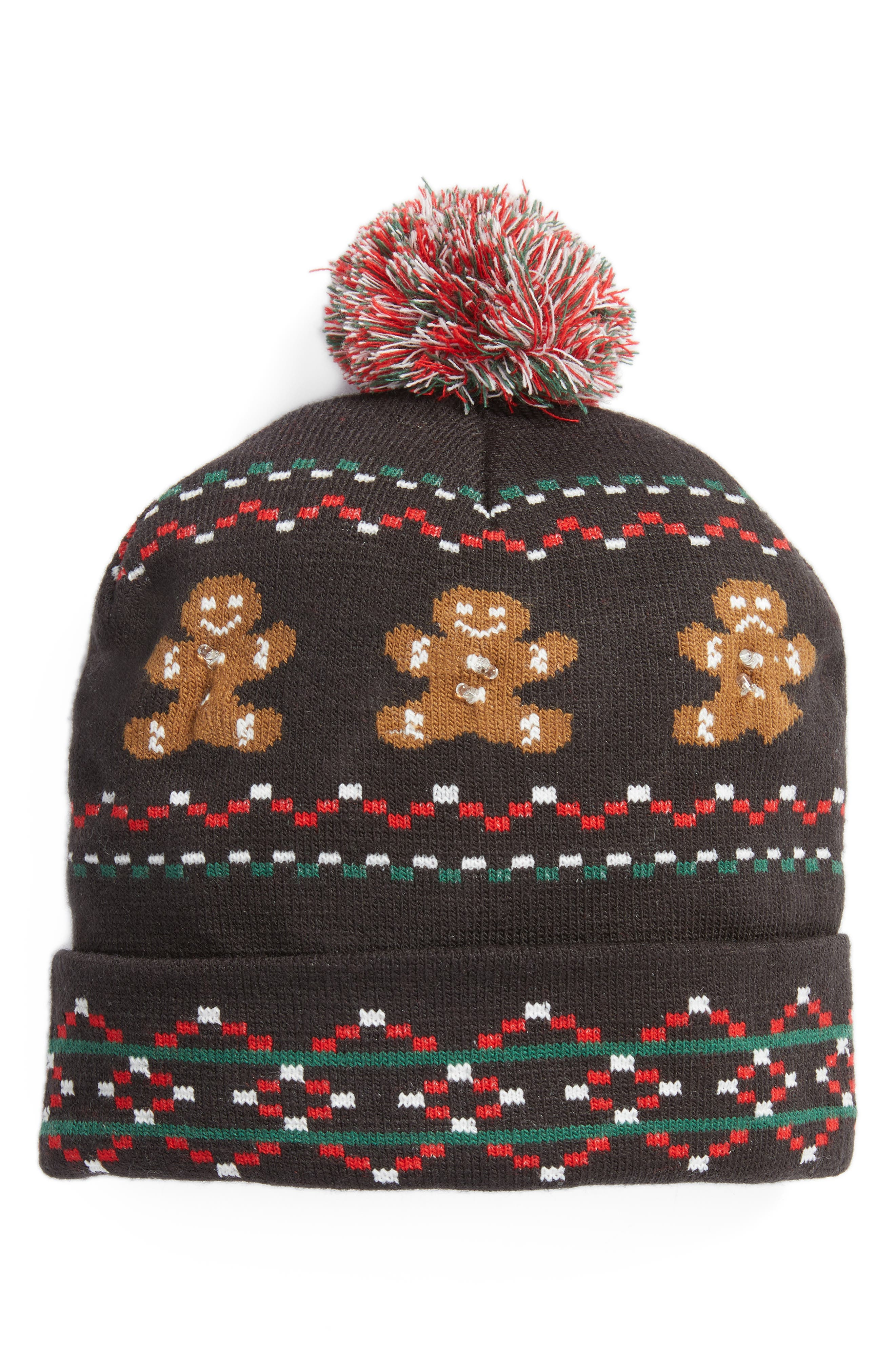 Capelli New York Gingerbread Light Up Beanie