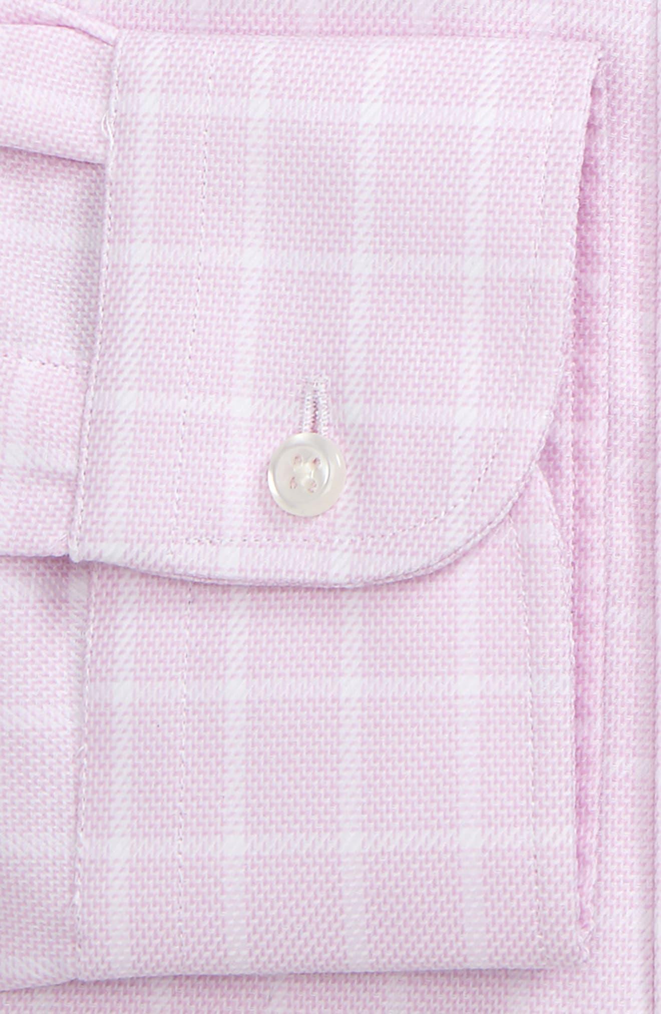 Classic Fit Non-Iron Check Dress Shirt,                             Alternate thumbnail 5, color,                             Pink Lavender