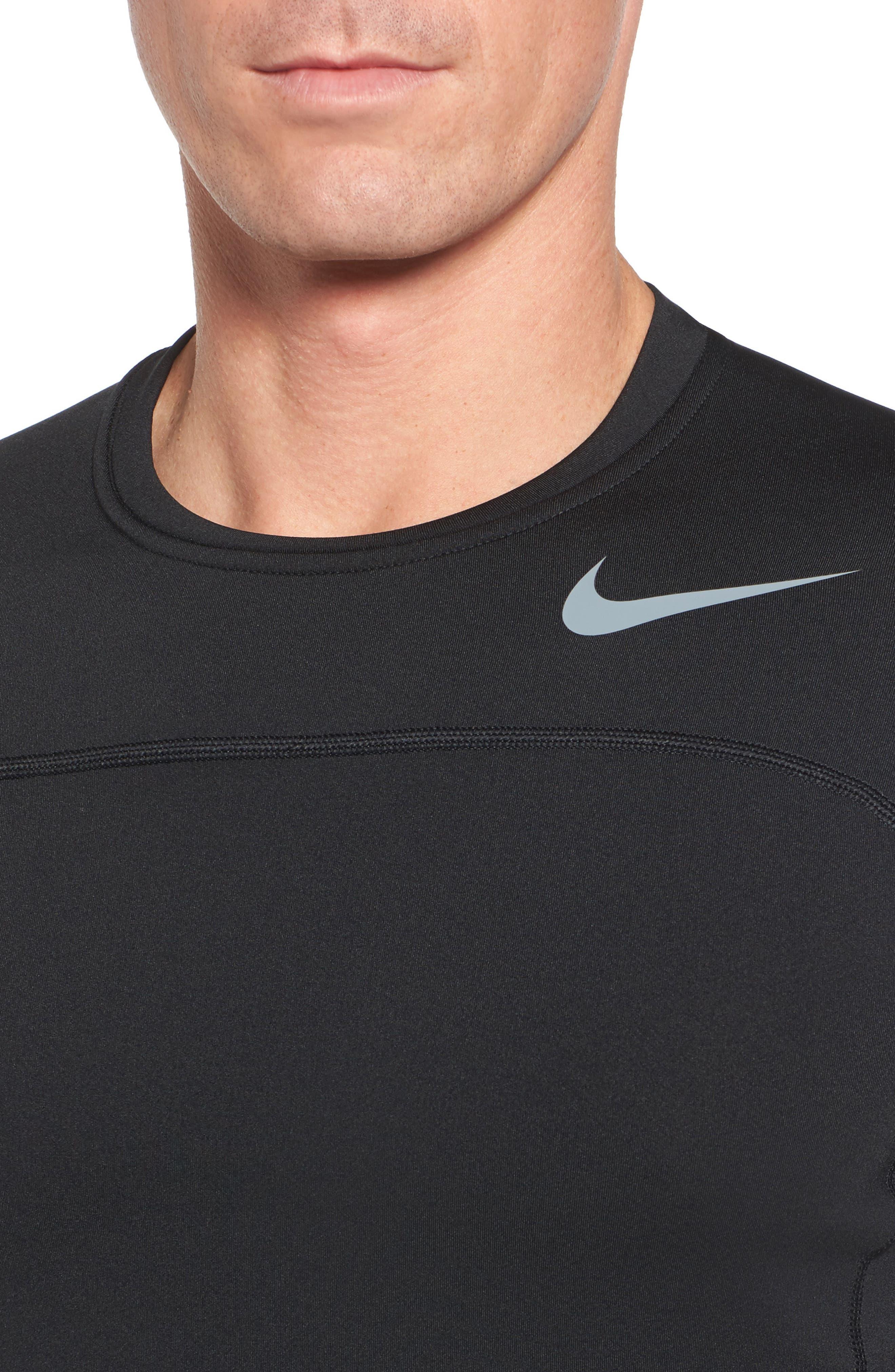 Pro Long Sleeve Training T-Shirt,                             Alternate thumbnail 4, color,                             Black/ Cool Grey/ Cool Grey