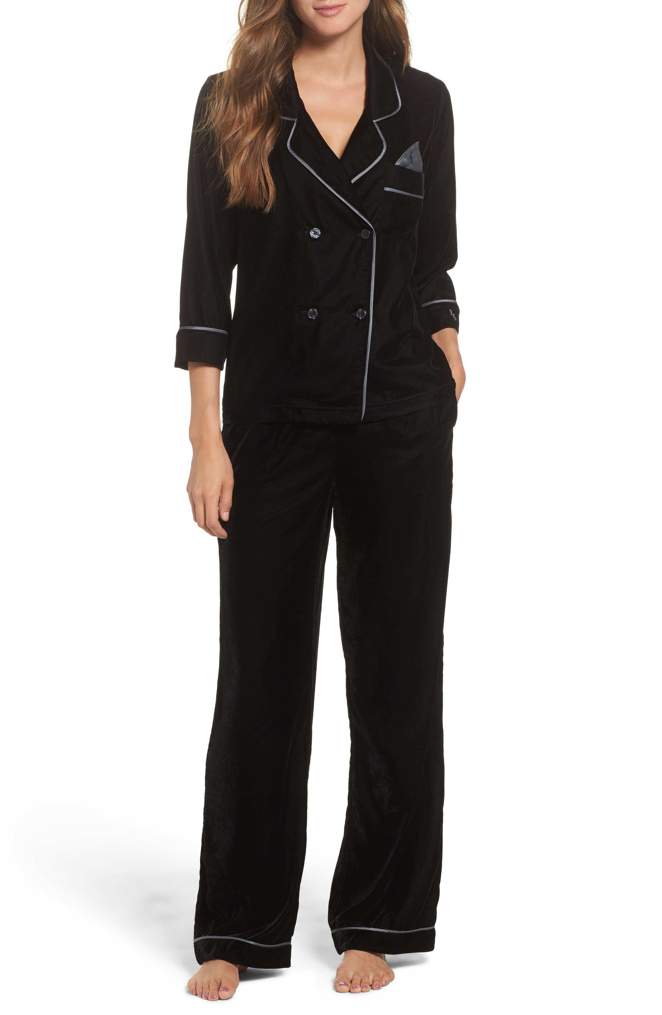 Alternate Image 4  - Room Service Velvet Pajama Pants
