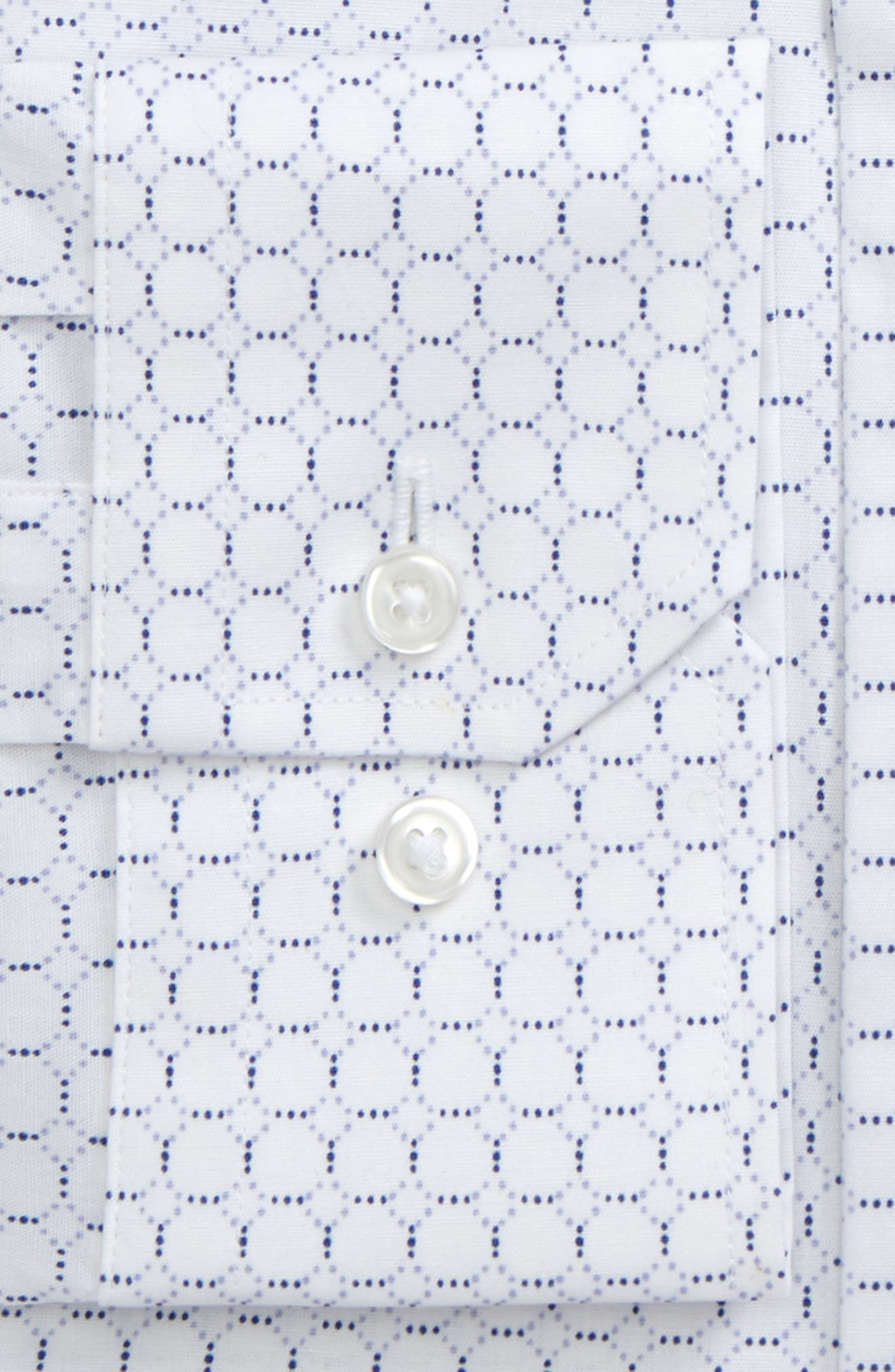 Trim Fit Circle Print Dress Shirt,                             Alternate thumbnail 2, color,                             Blue Marine