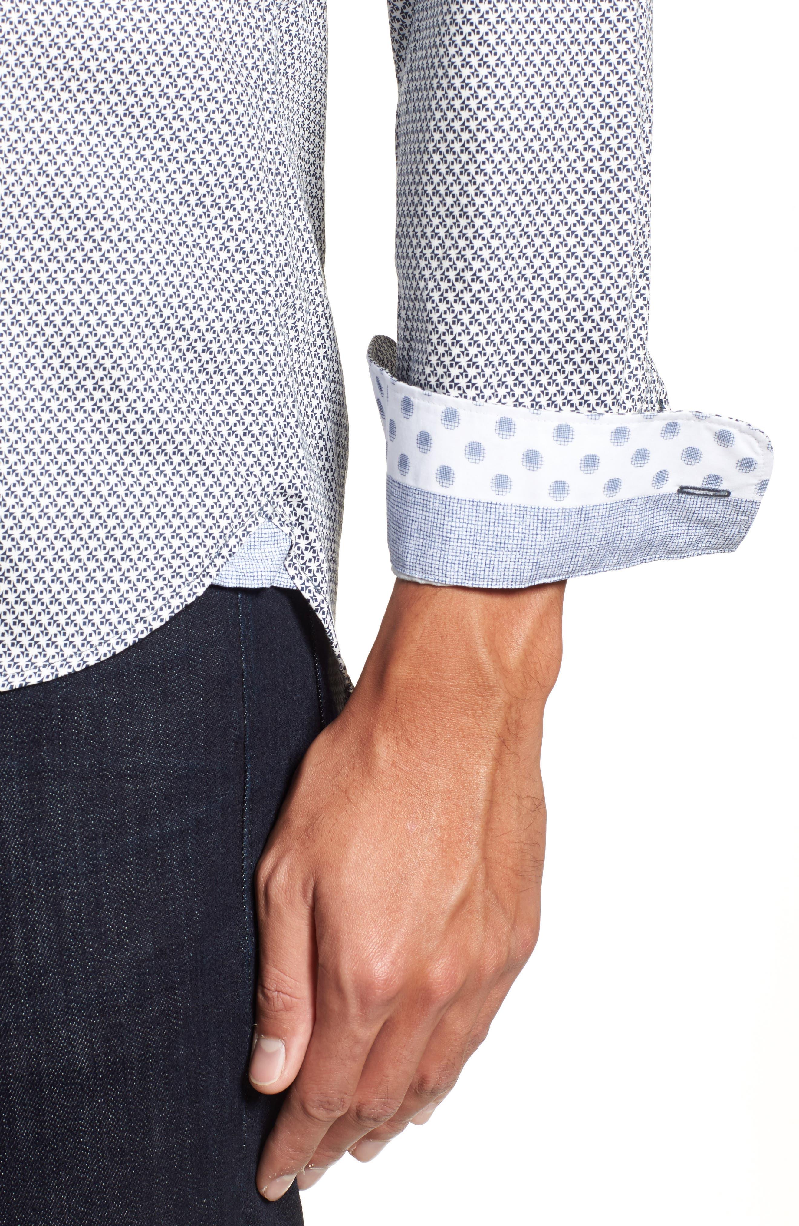 Alternate Image 4  - Ted Baker London Vilamor Extra Slim Fit Print Sport Shirt