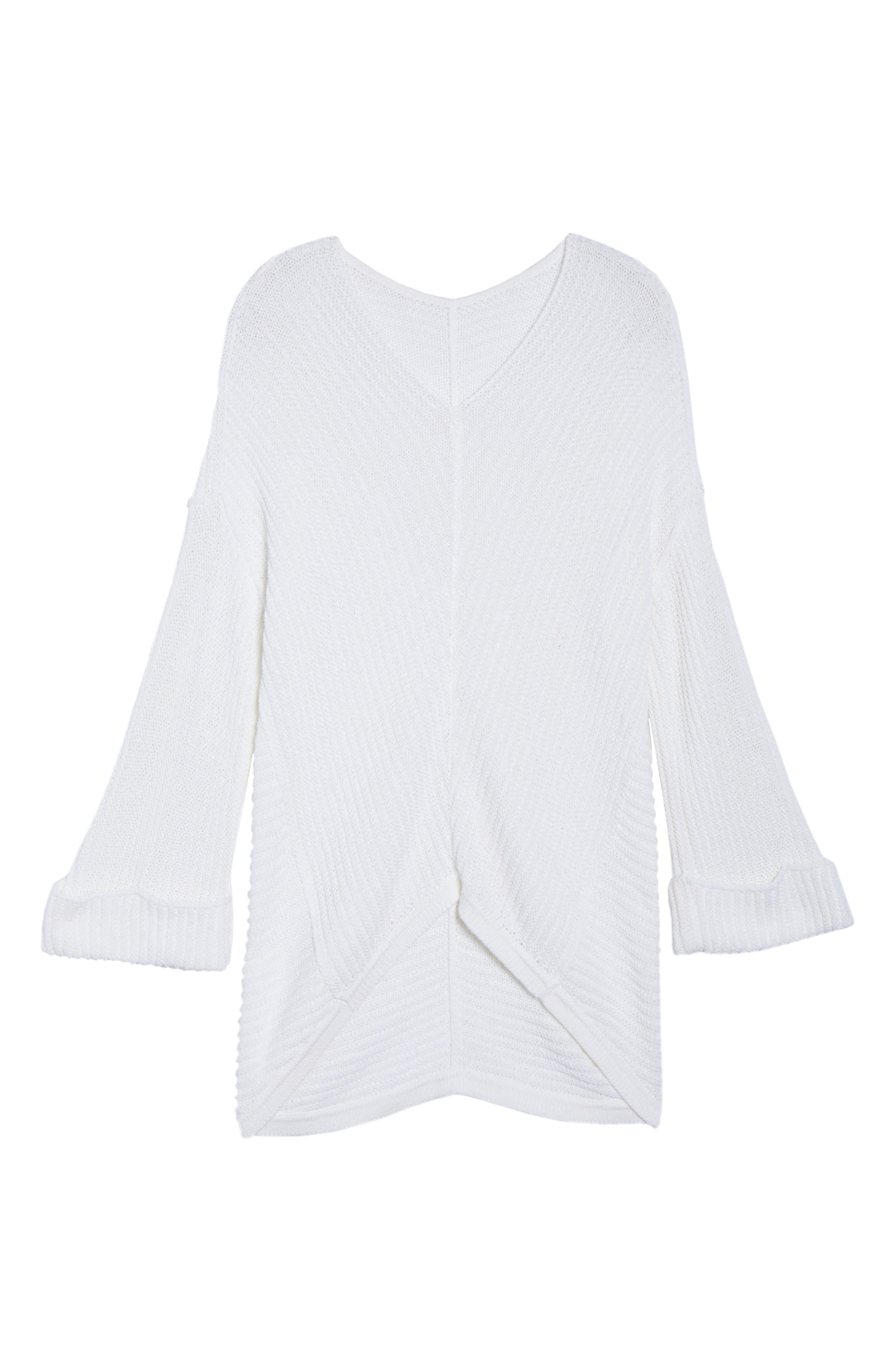 Caslon® Cuffed Bell Sleeve Sweater (Plus Size)