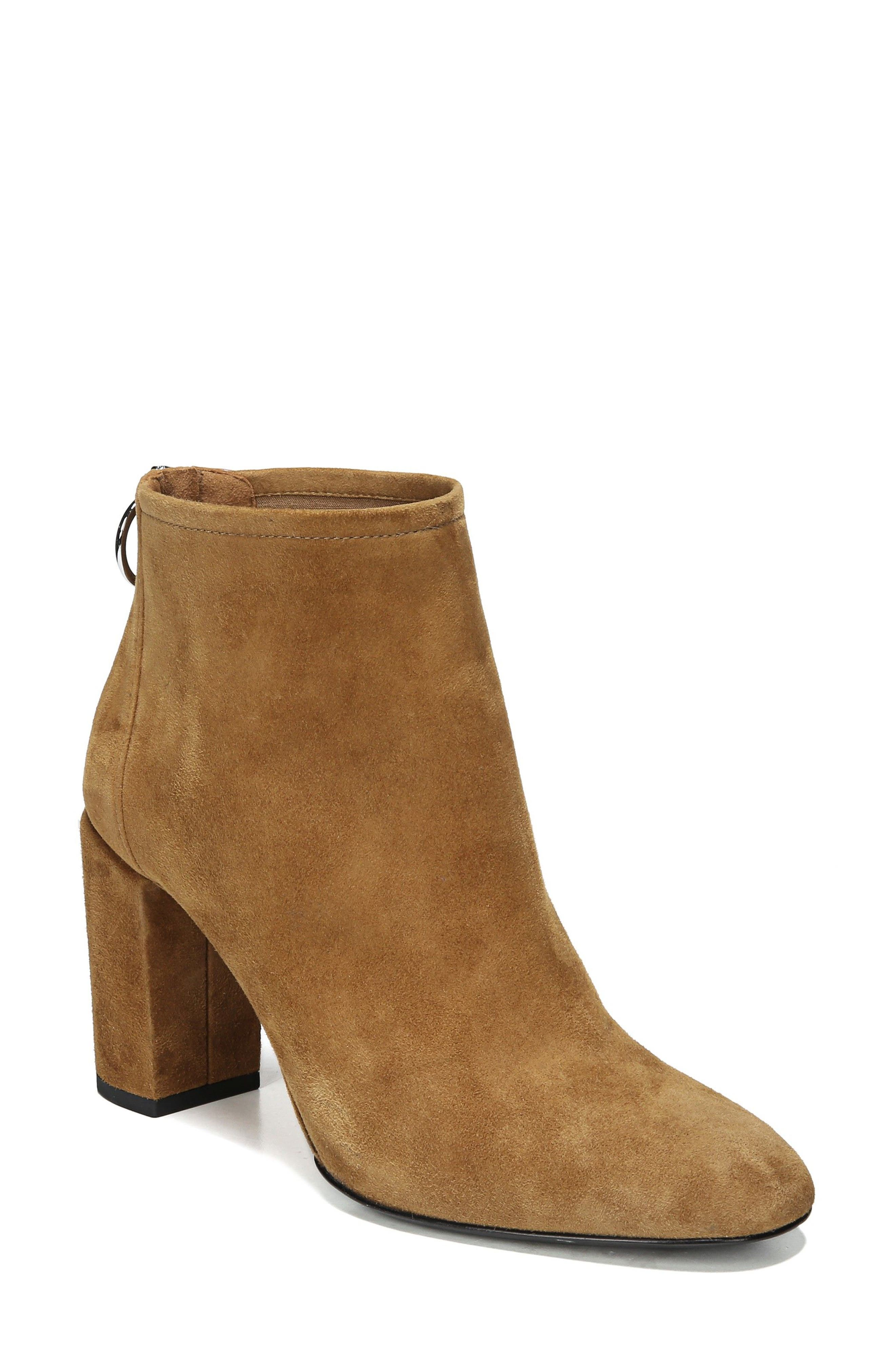 Nadia Bootie,                             Main thumbnail 1, color,                             Cuoio Suede