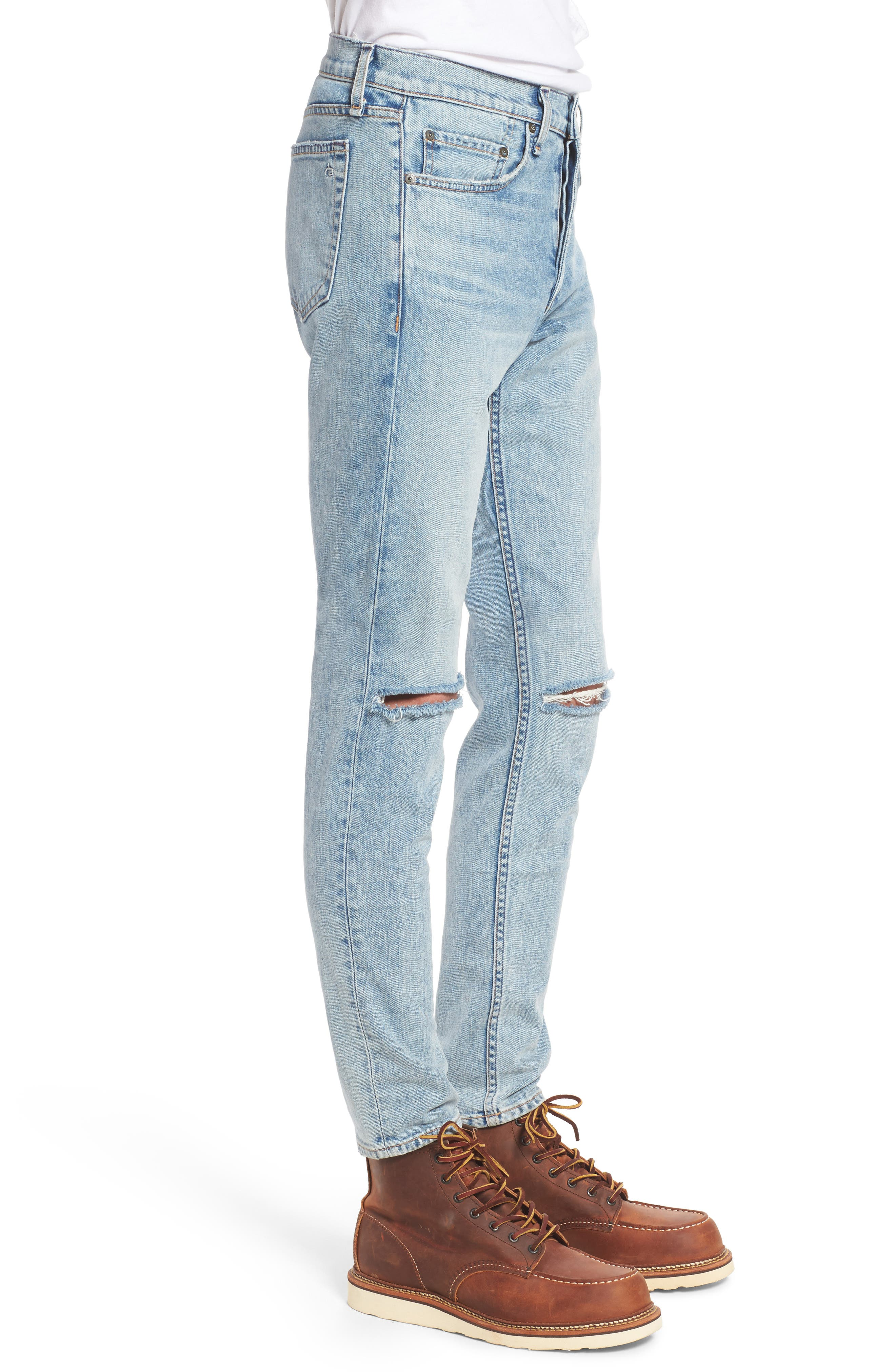 Fit 1 Skinny Fit Jeans,                             Alternate thumbnail 3, color,                             Jameson With Holes