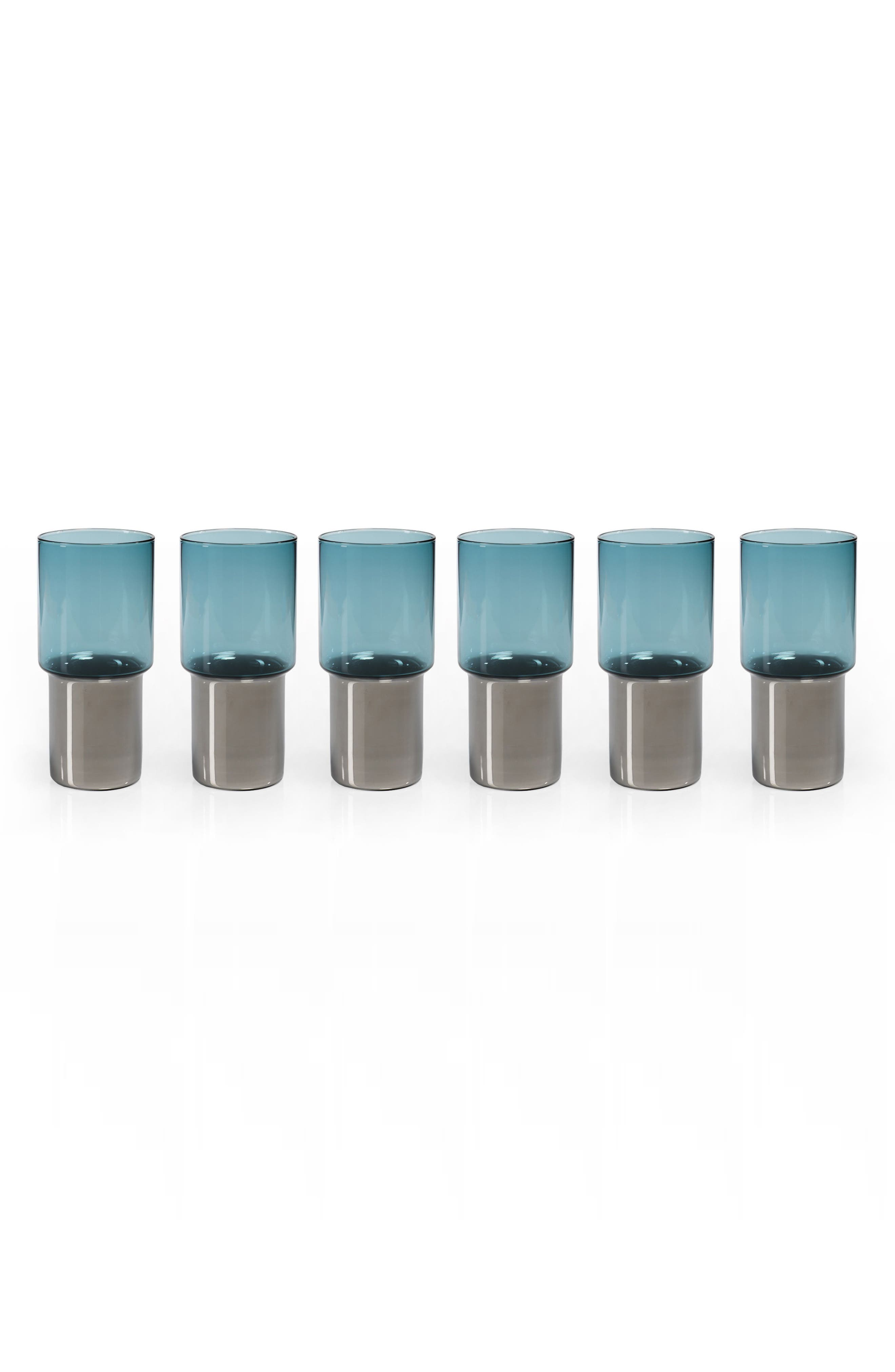 Alternate Image 1 Selected - Zodax Como Set of 6 Highball Glasses