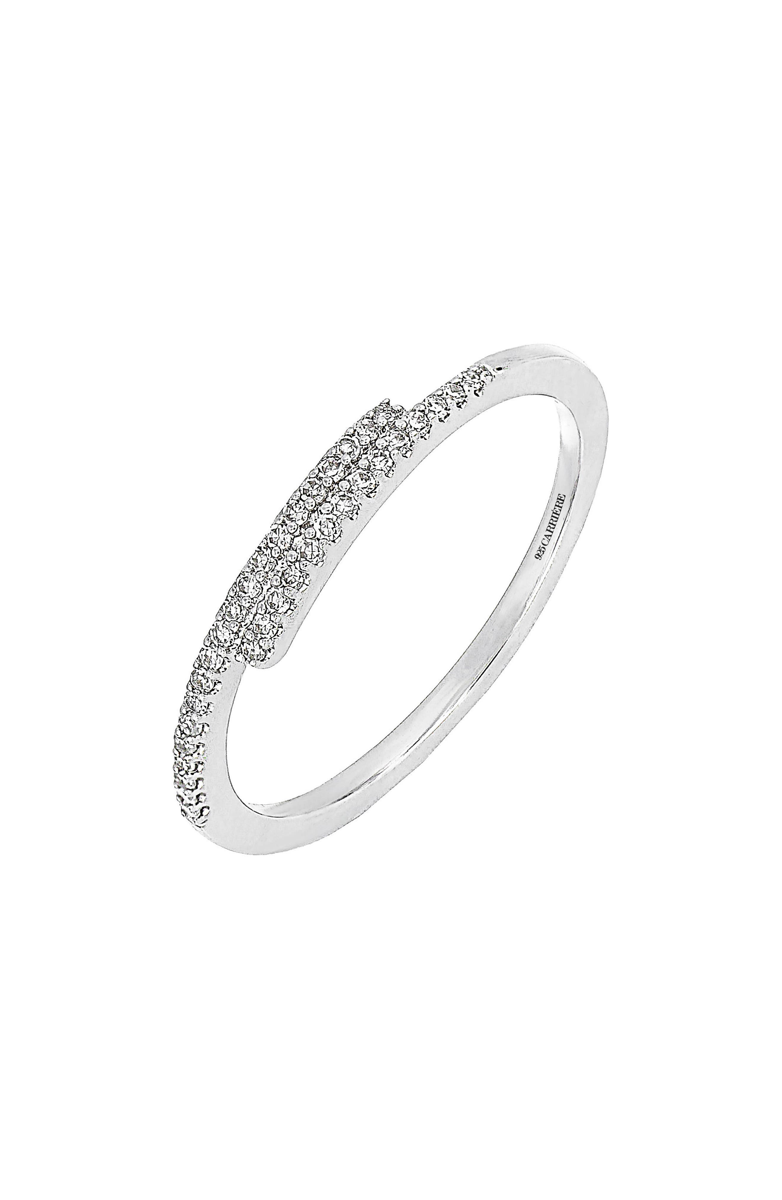 Carrière Linear Diamond Stacking Ring (Nordstrom Exclusive)