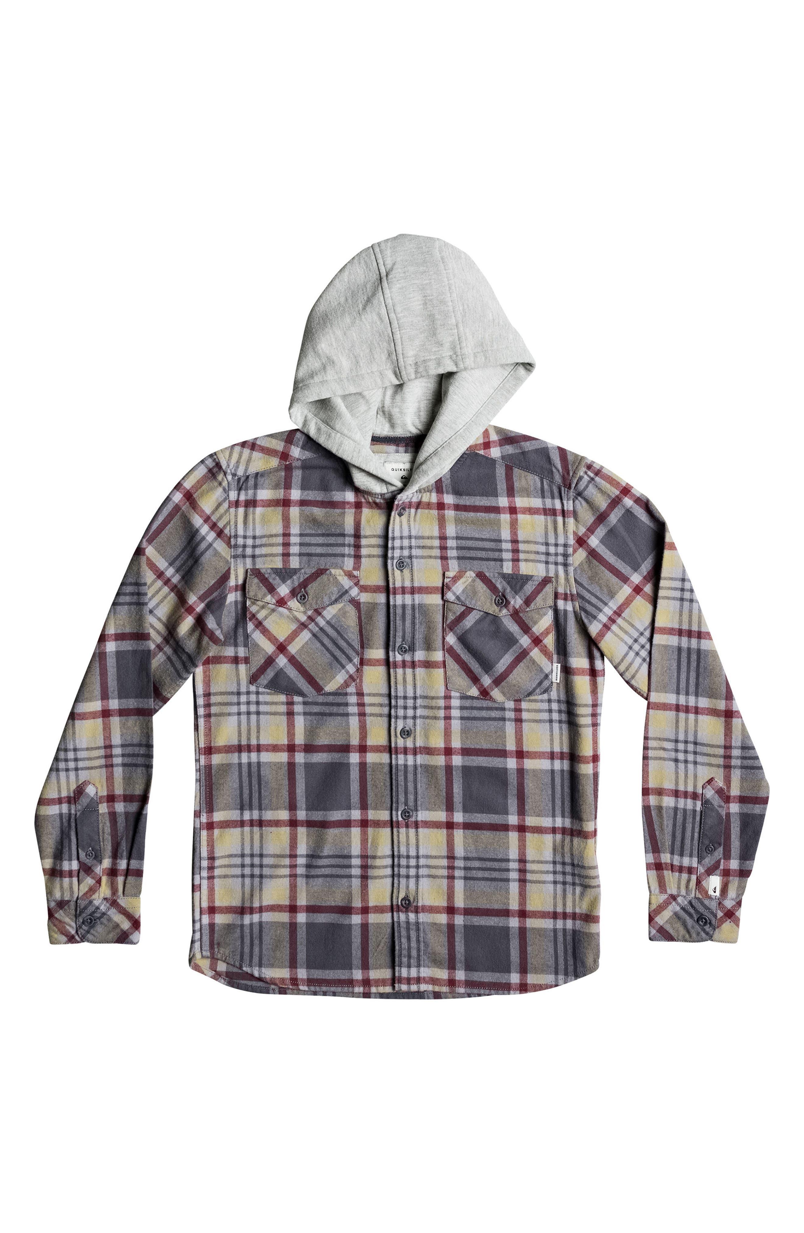 Quiksilver Hooded Tang Plaid Flannel Shirt (Big Boys)