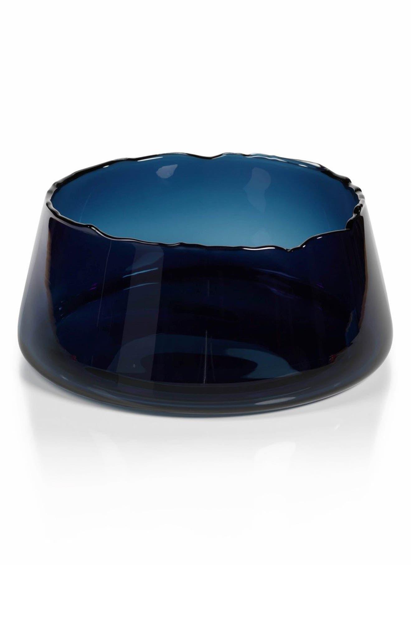 Manarola Decorative Glass Bowl,                             Main thumbnail 1, color,                             Blue