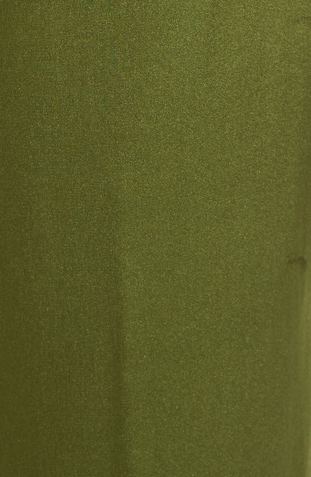 Arwen Wide Leg Silk Pants,                             Alternate thumbnail 5, color,                             Combat Green