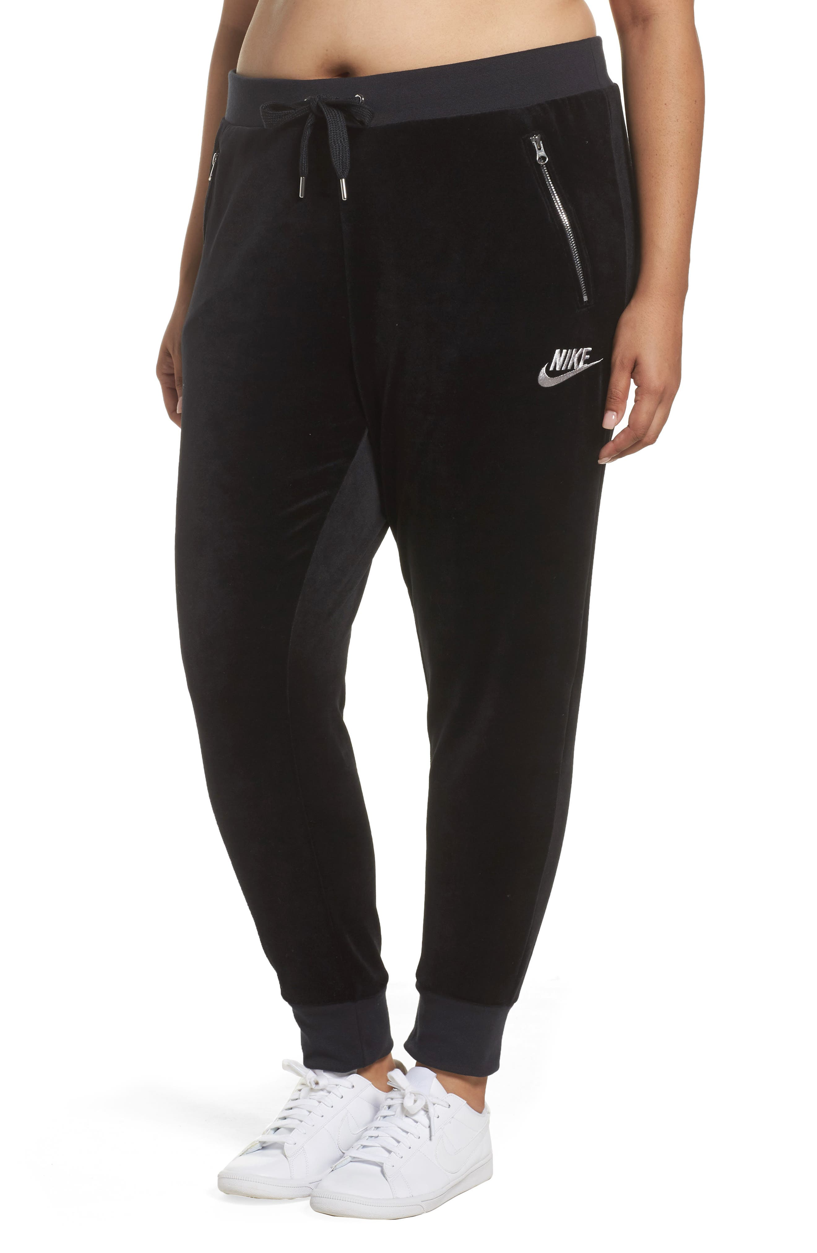 Nike Velour Drawstring Track Pants (Plus Size)