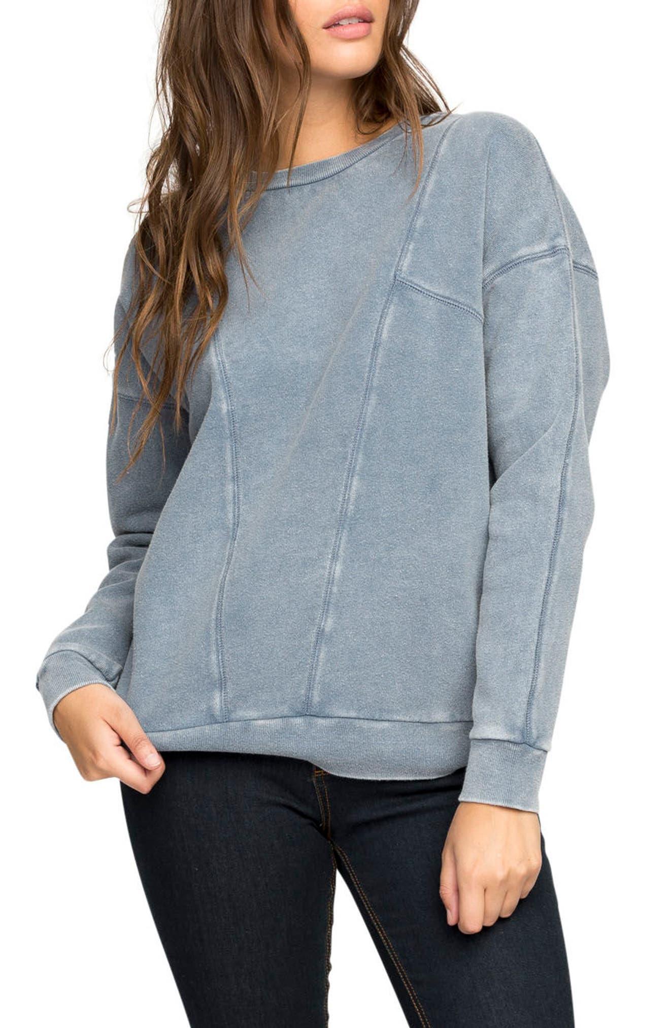 Take Care Sweatshirt,                         Main,                         color, Navy