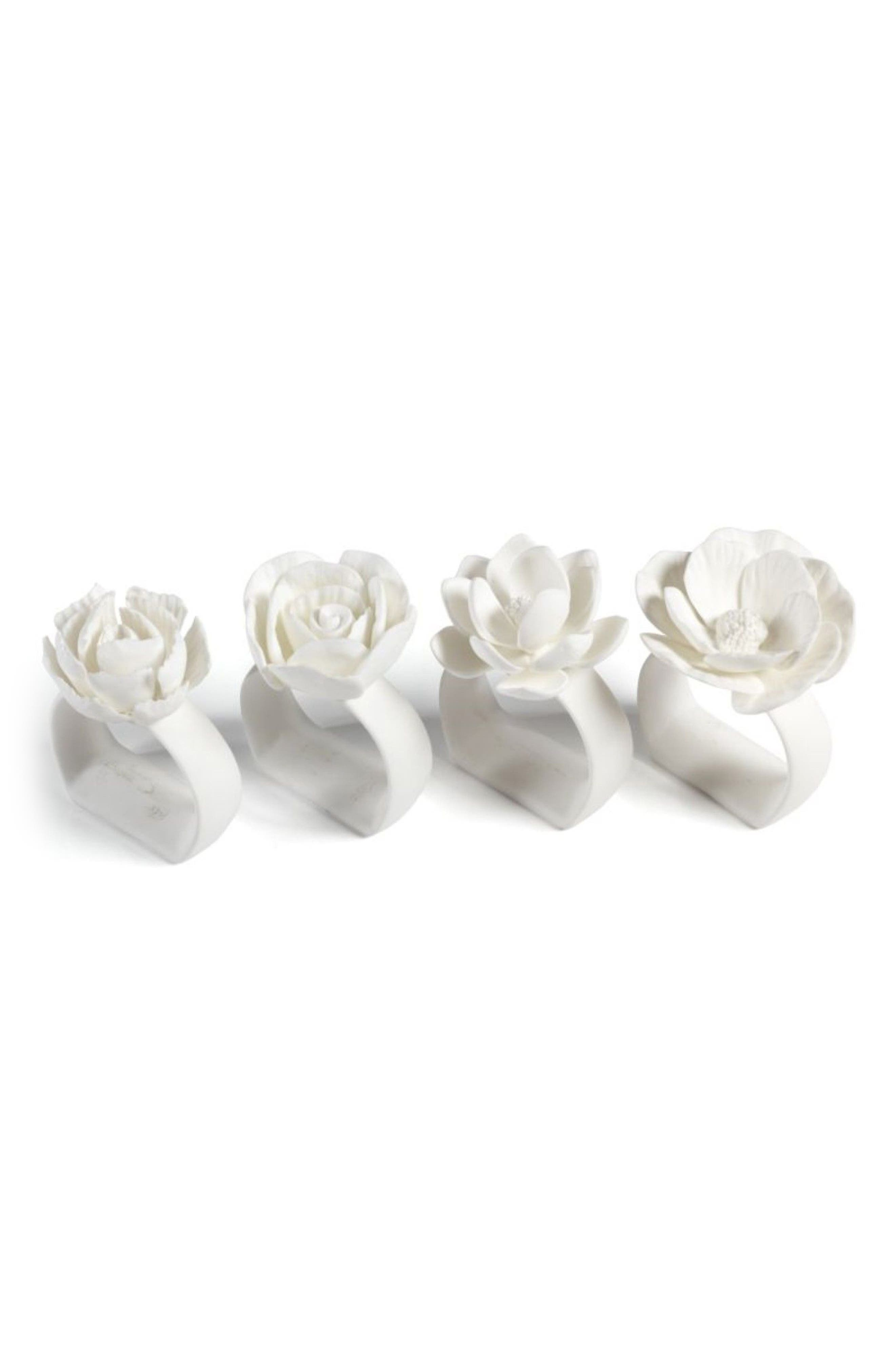Zodax Cameo Set of 4 Napkin Rings