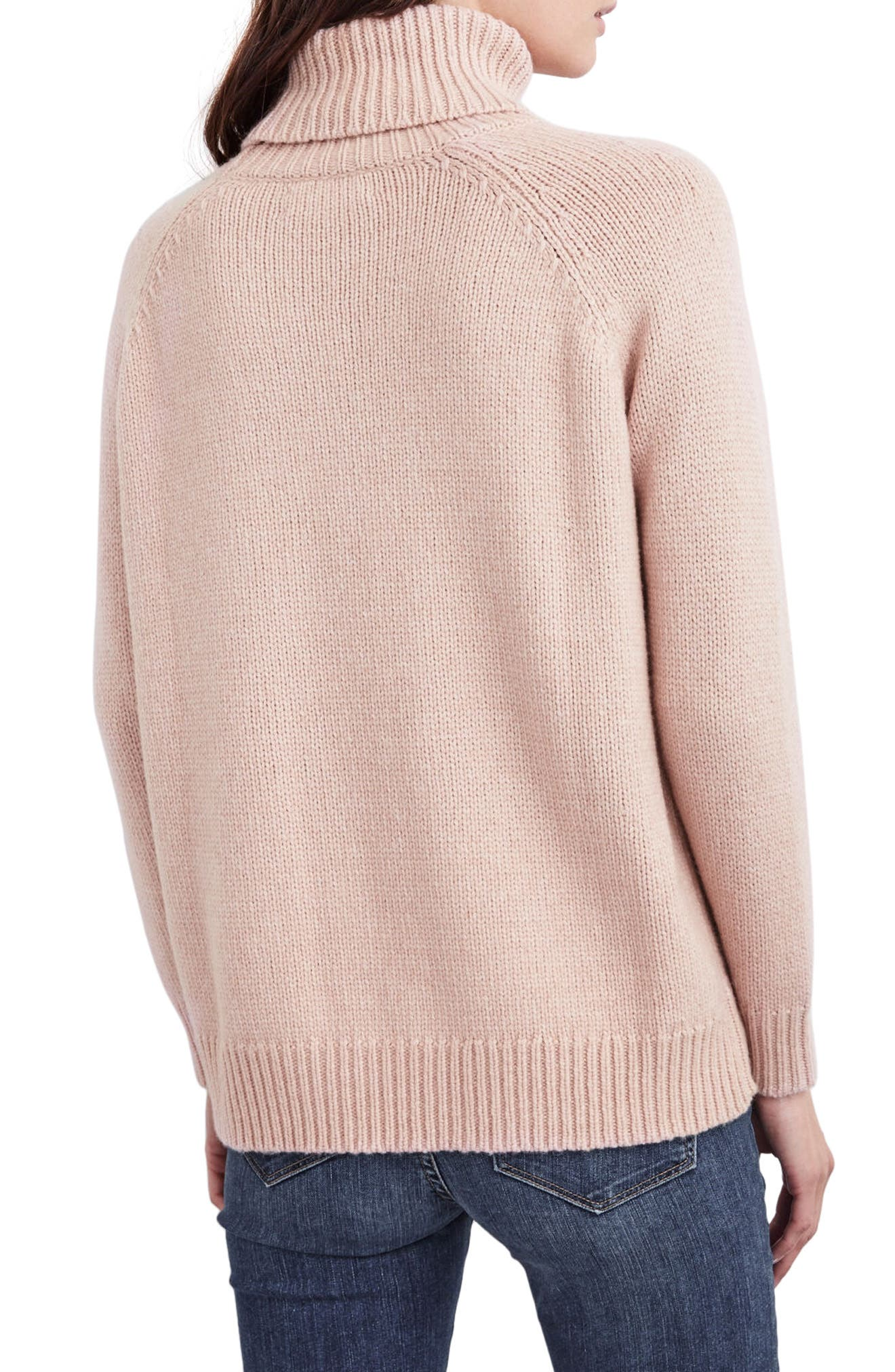 Textured Turtleneck Sweater,                             Alternate thumbnail 6, color,                             Plush