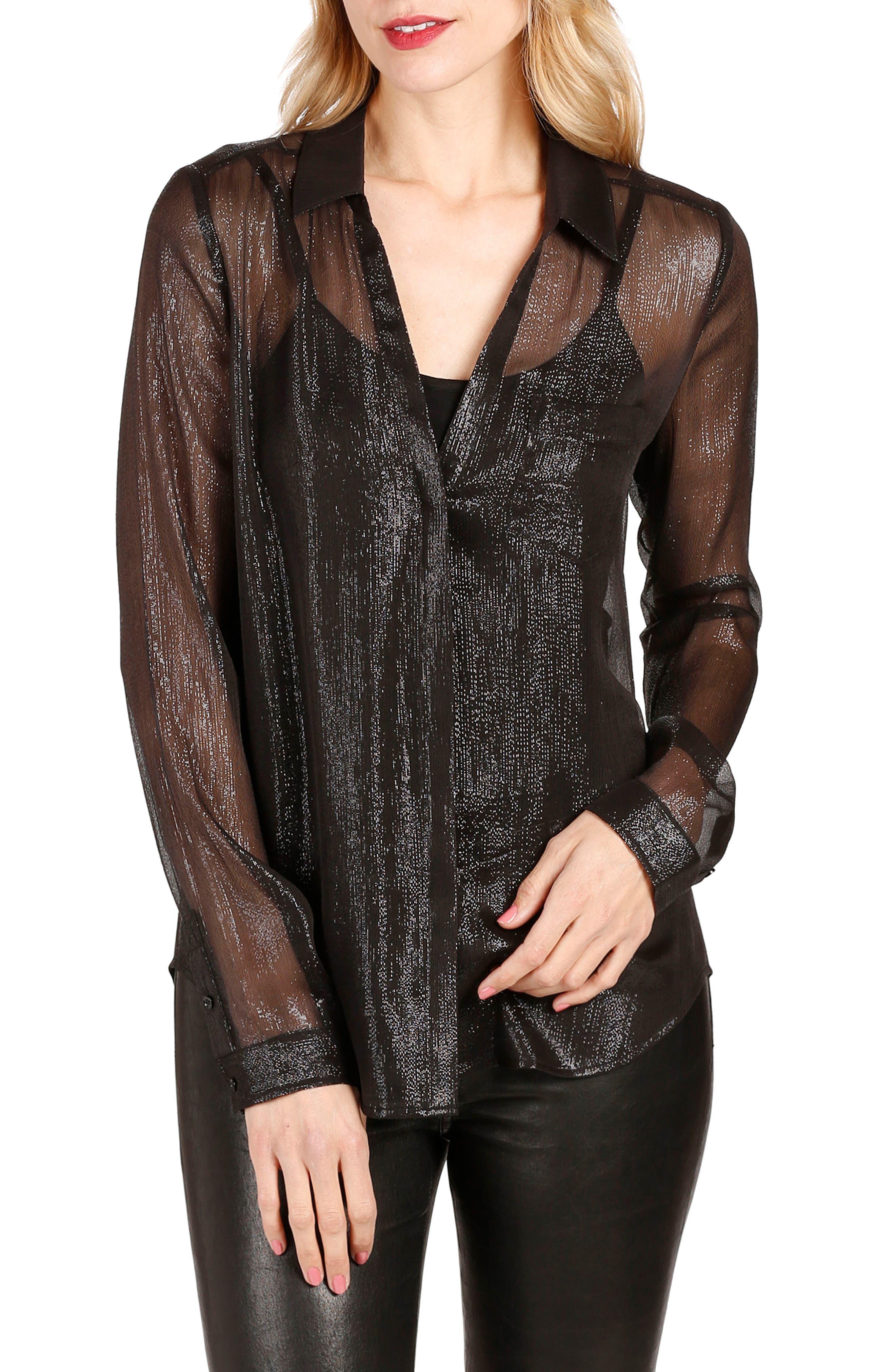 Everleigh Shirt,                         Main,                         color, Black
