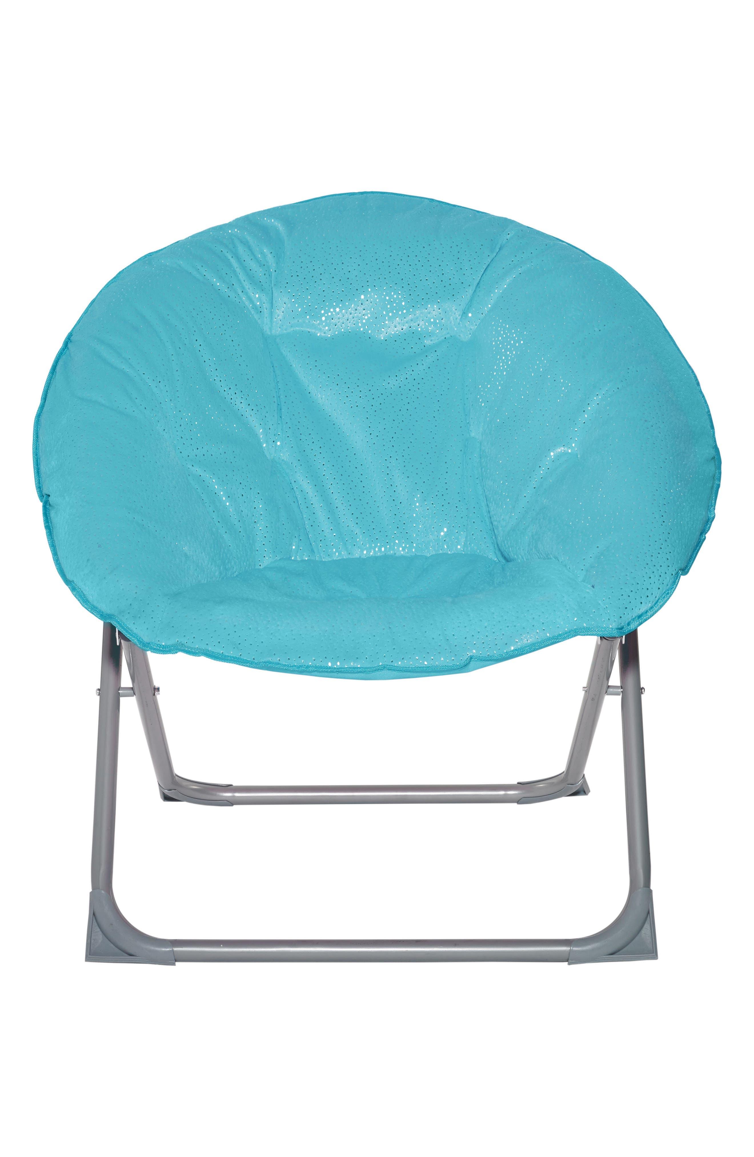 Sparkle Moon Chair,                             Main thumbnail 1, color,                             Turquoise
