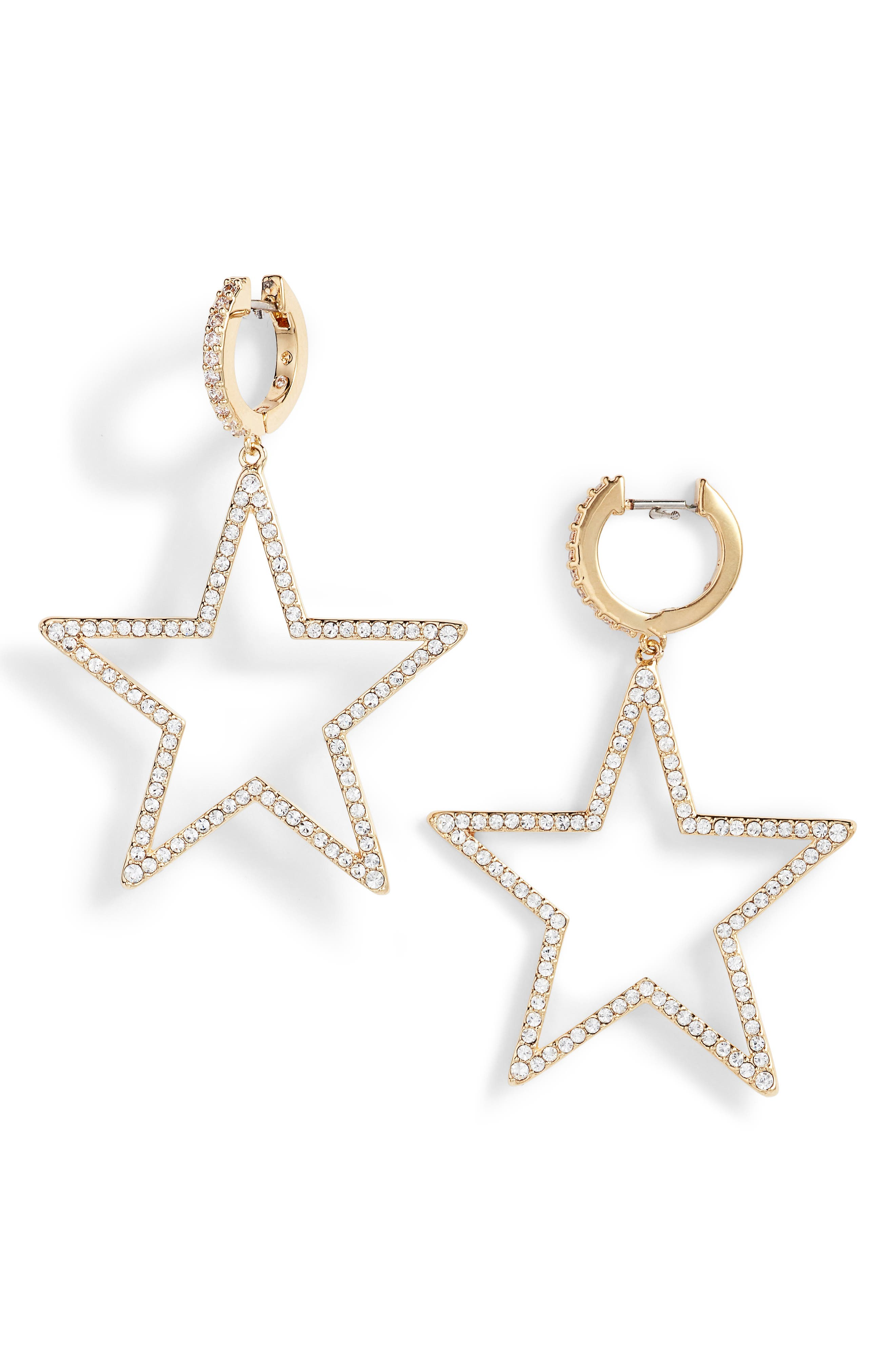 seeing stars star drop earrings,                         Main,                         color, Gold