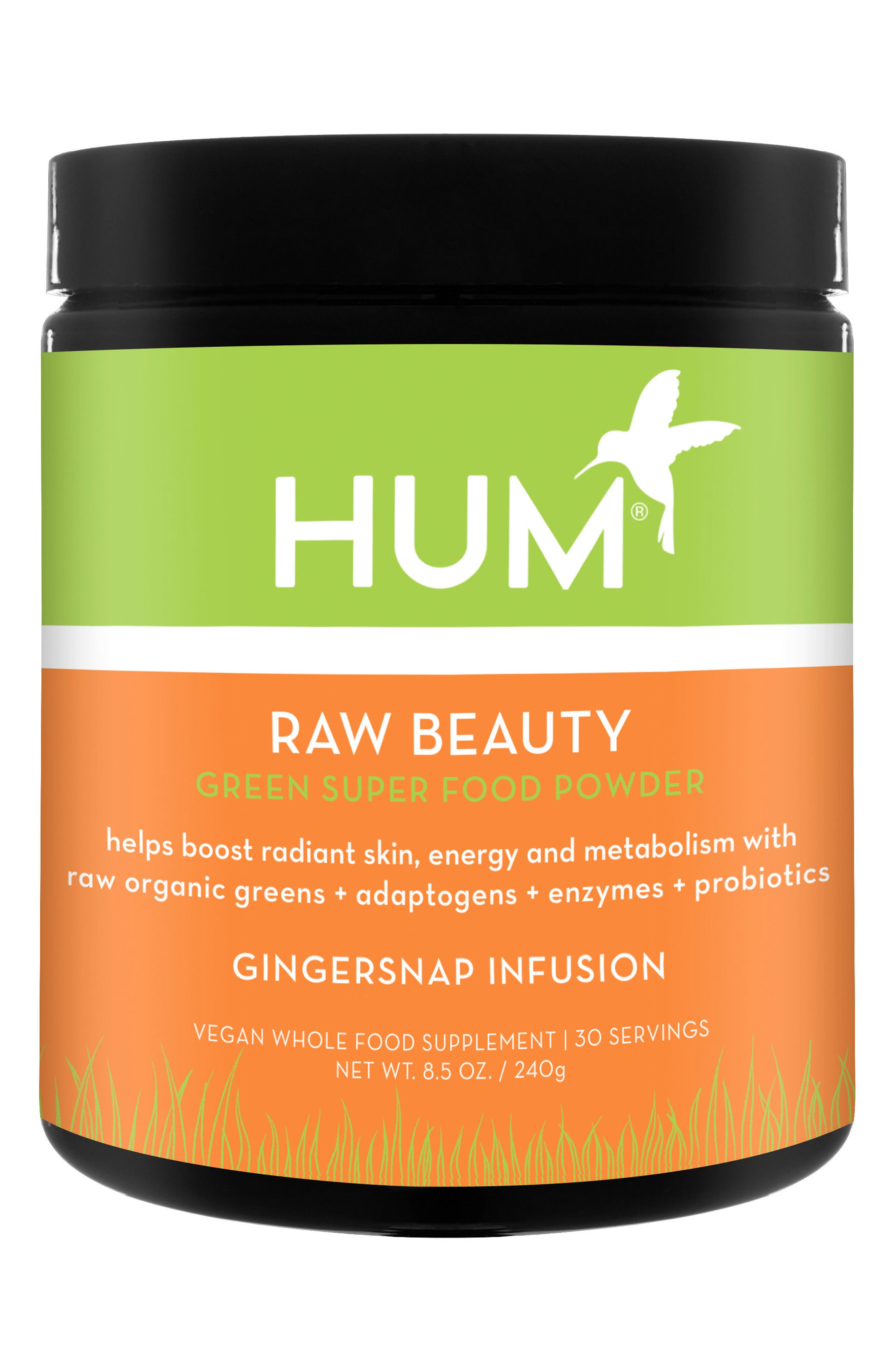 Raw Beauty Gingersnap Infusion Skin & Energy Green Superfood Powder,                         Main,                         color, No Color