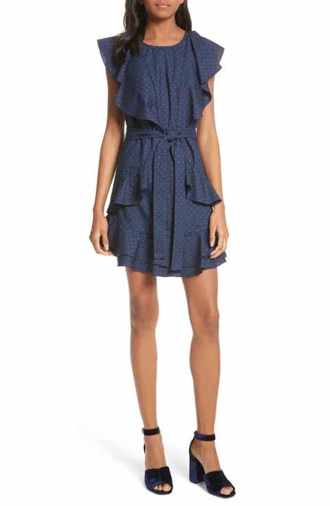 Joie Malachy Ruffle Dot Cotton Dress