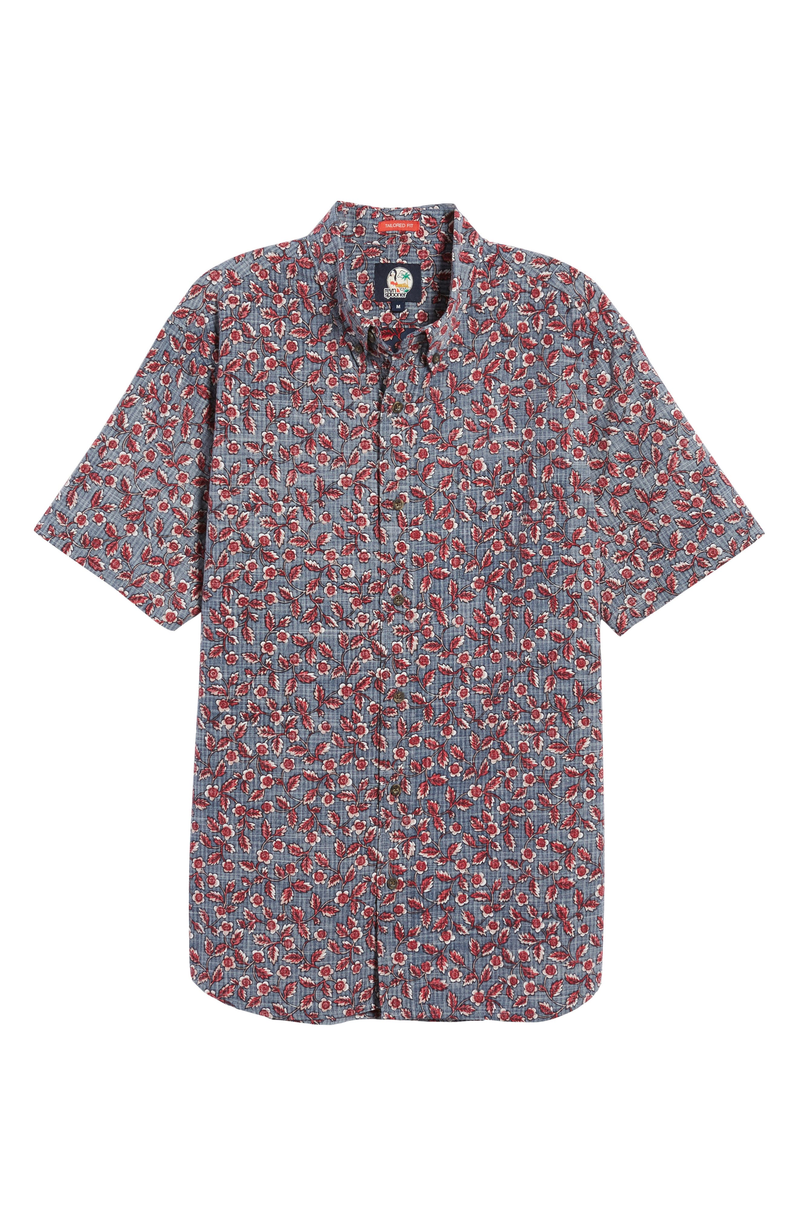 Upcountry Floral Regular Fit Sport Shirt,                             Alternate thumbnail 6, color,                             Navy