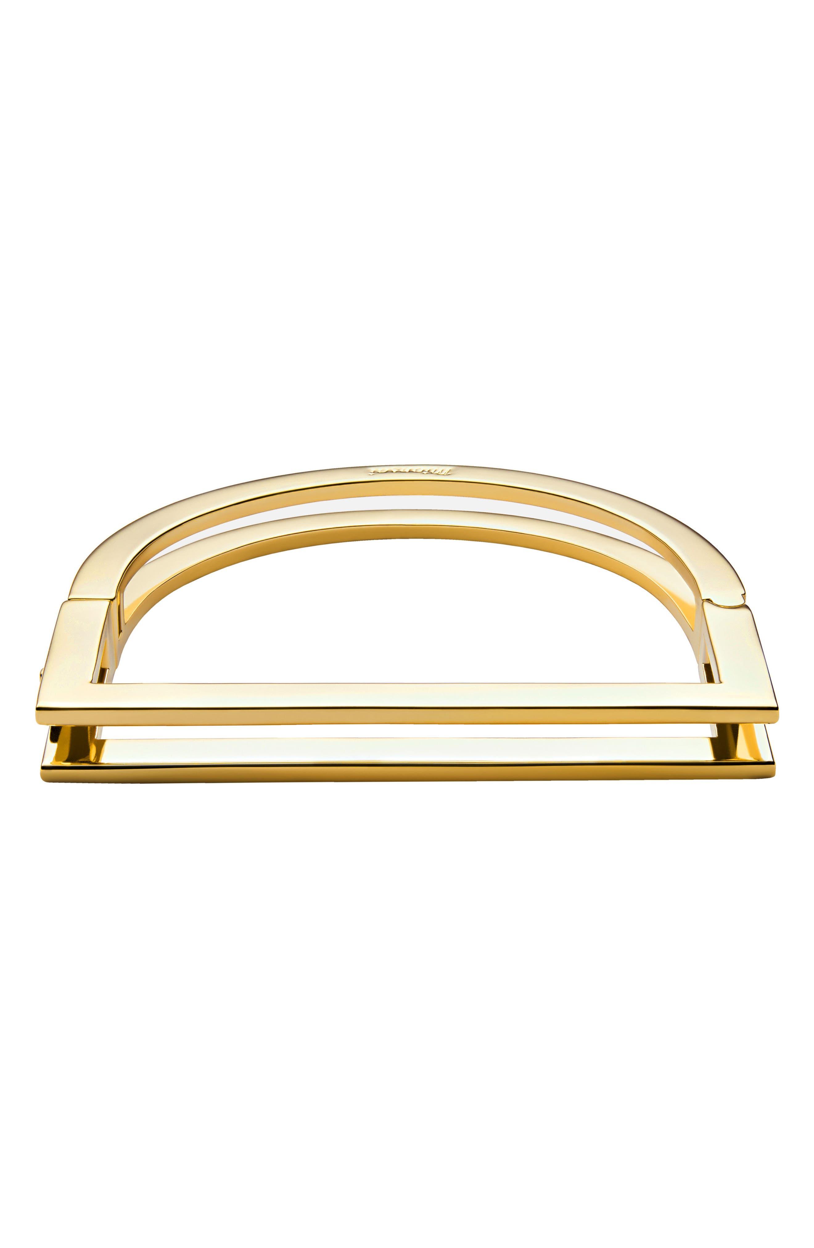 Square Bar Cuff,                         Main,                         color, Gold
