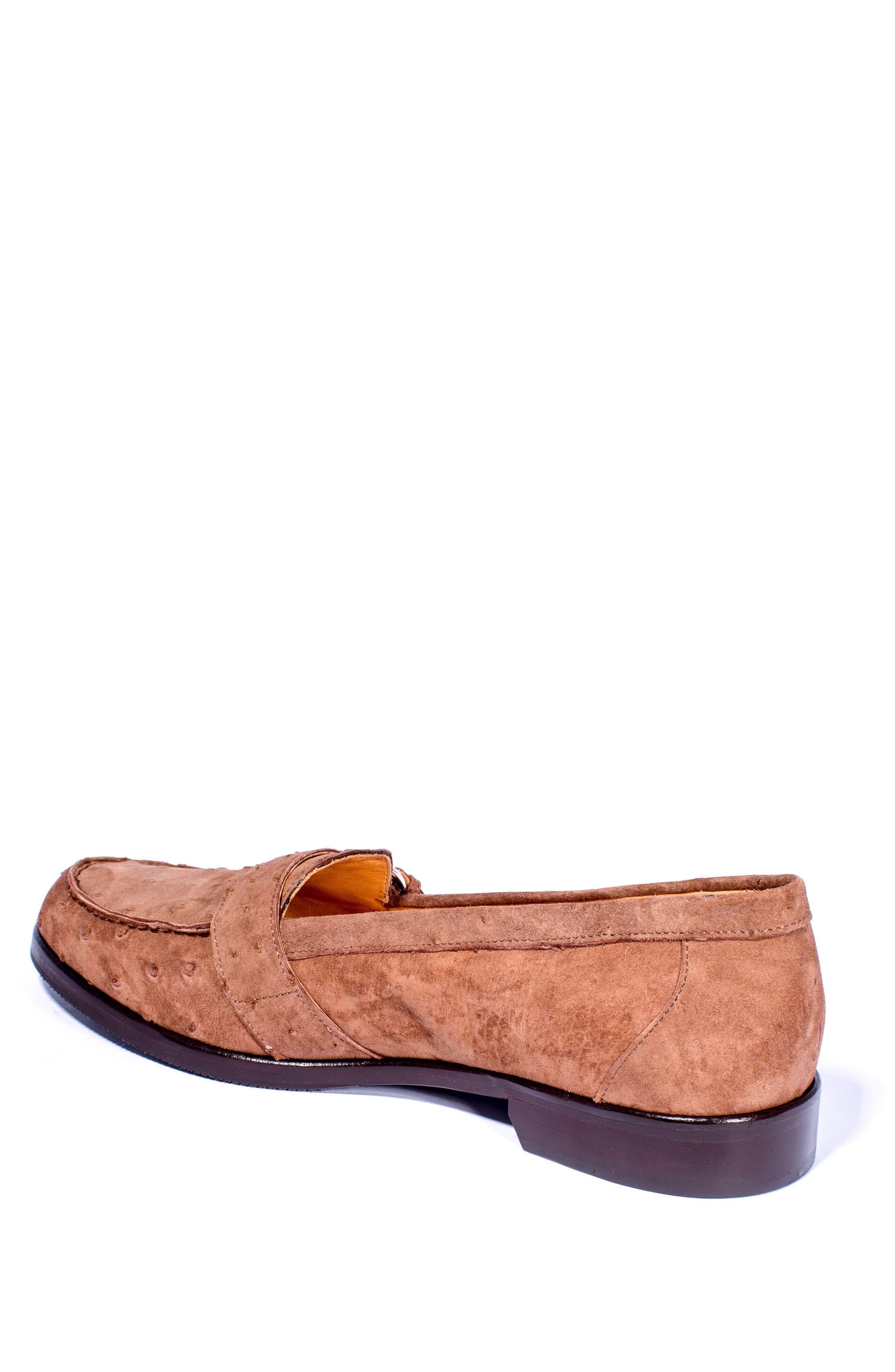 Orlando Teju Ostrich Loafer,                             Alternate thumbnail 2, color,                             Brown
