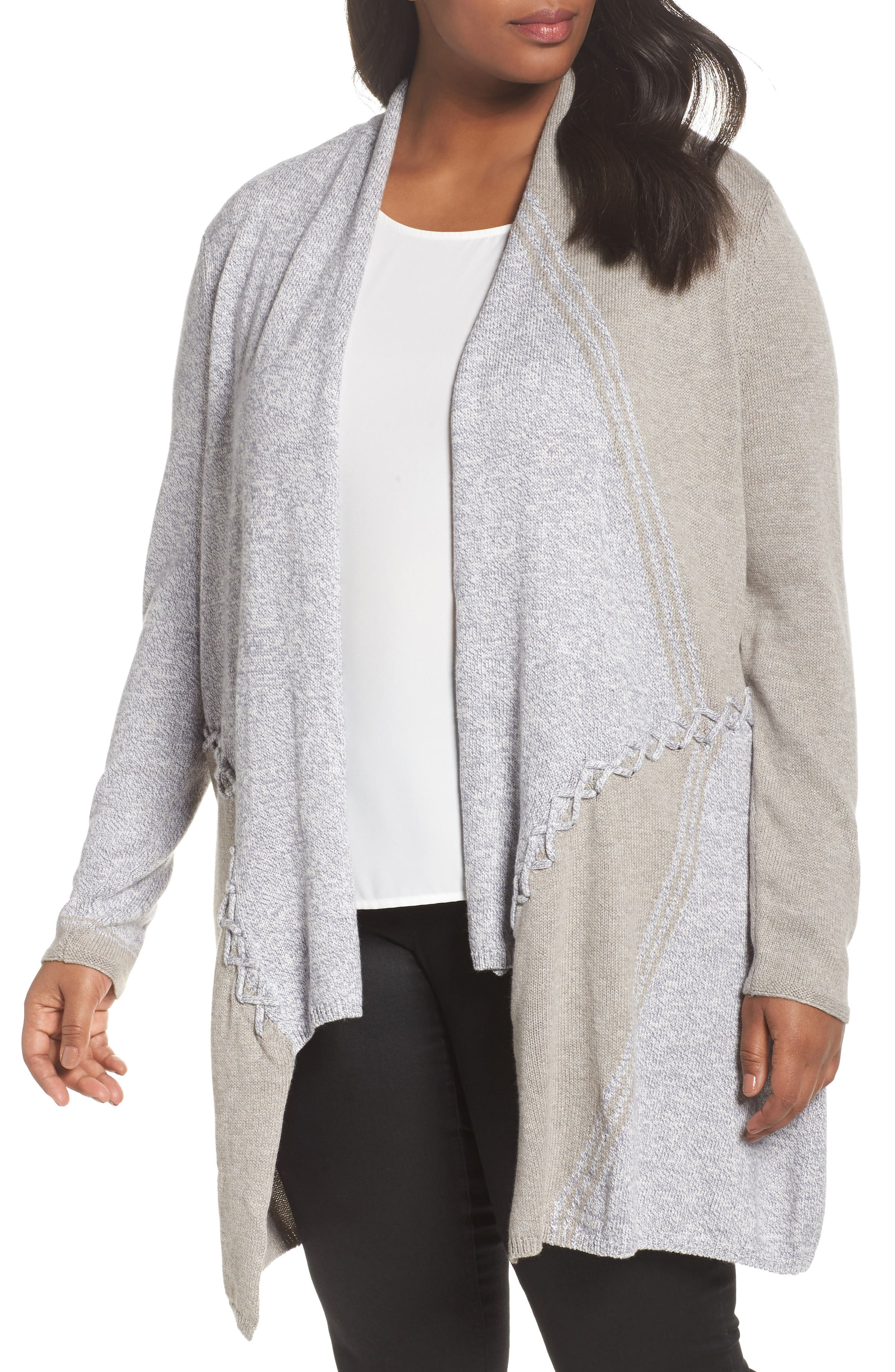 NIC+ZOE Side Stitch Cardigan (Plus Size)