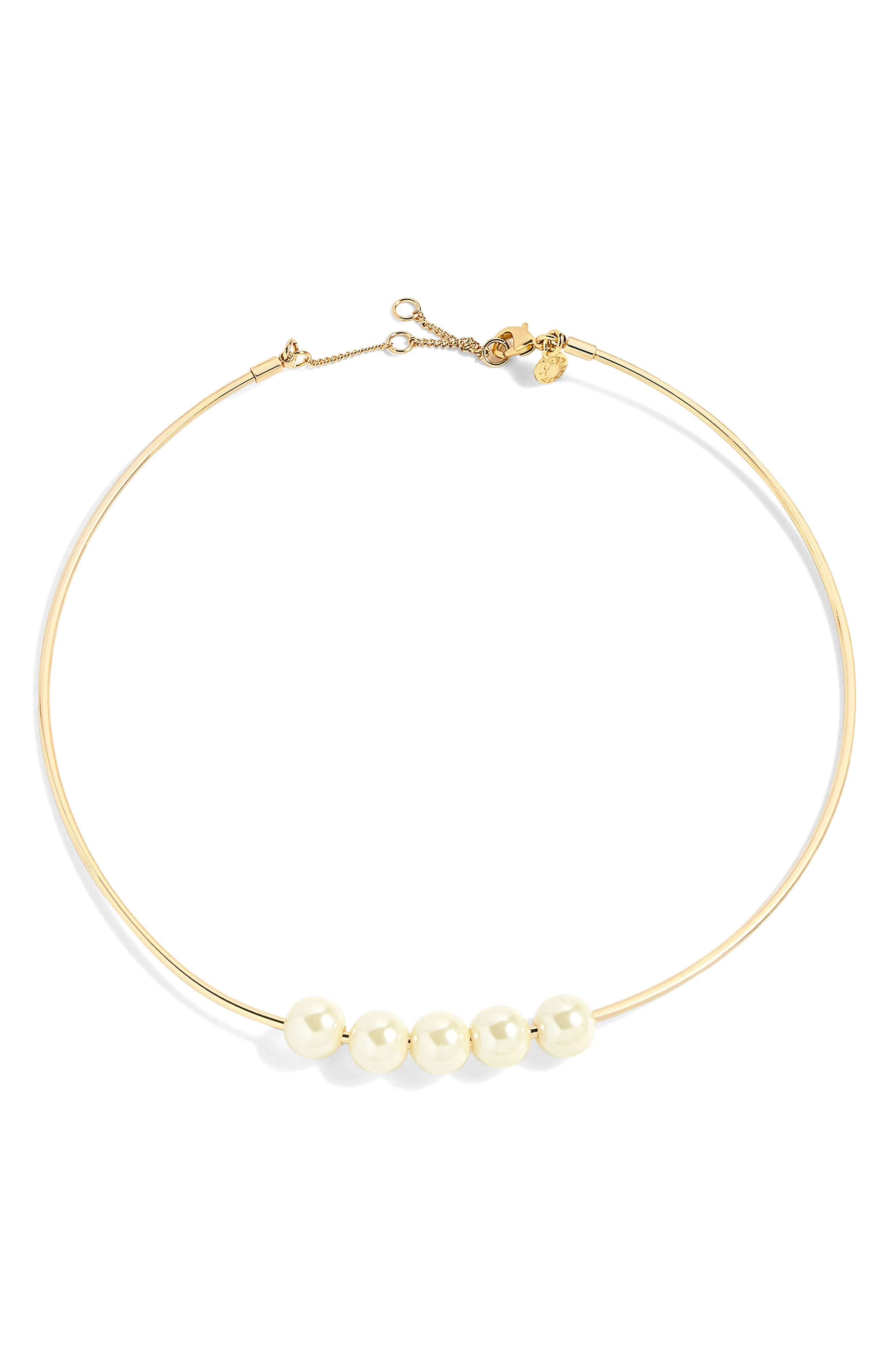 J.Crew Imitation Pearl Collar Necklace