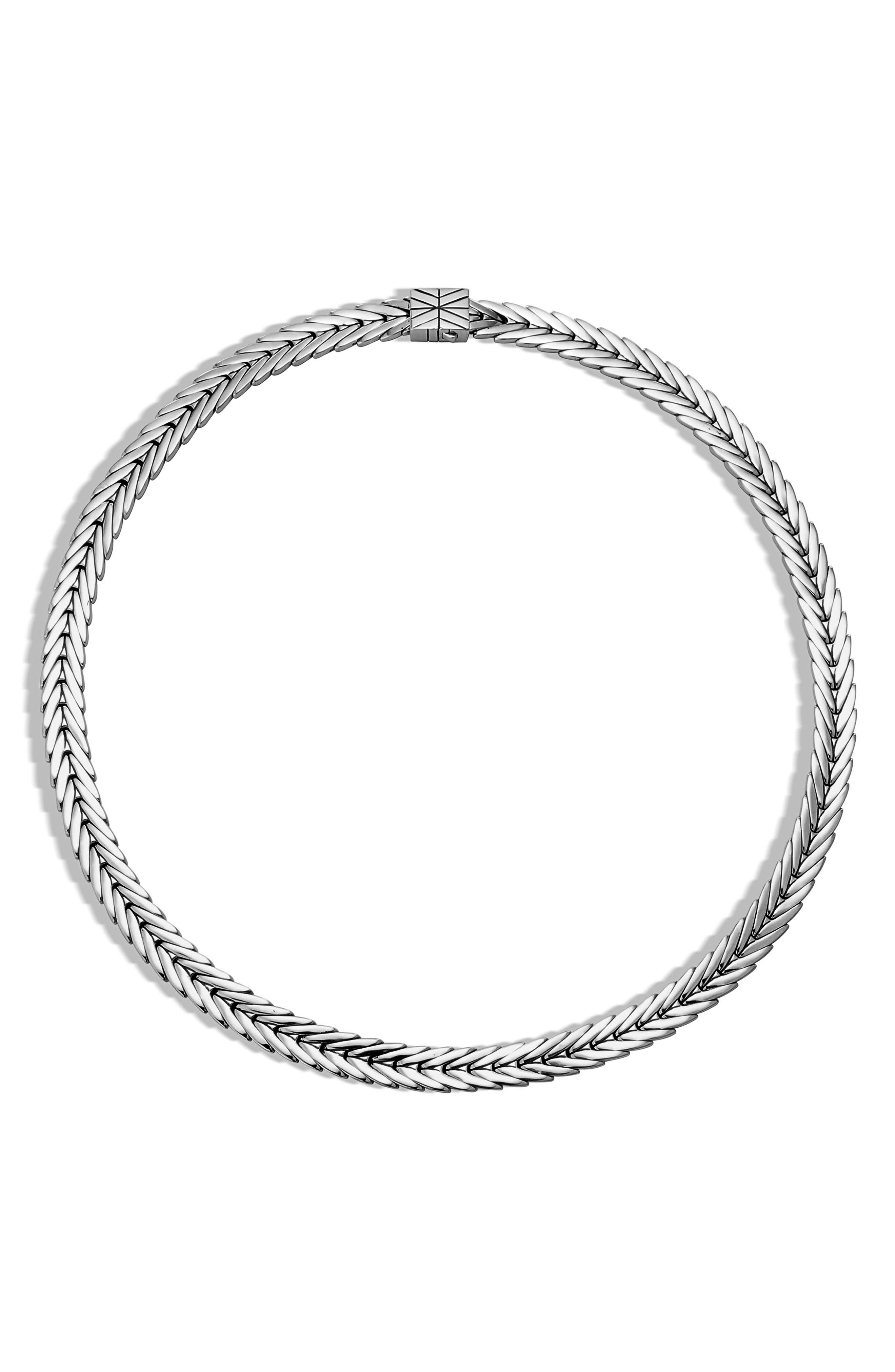 Modern Chain Collar Necklace,                         Main,                         color, Silver
