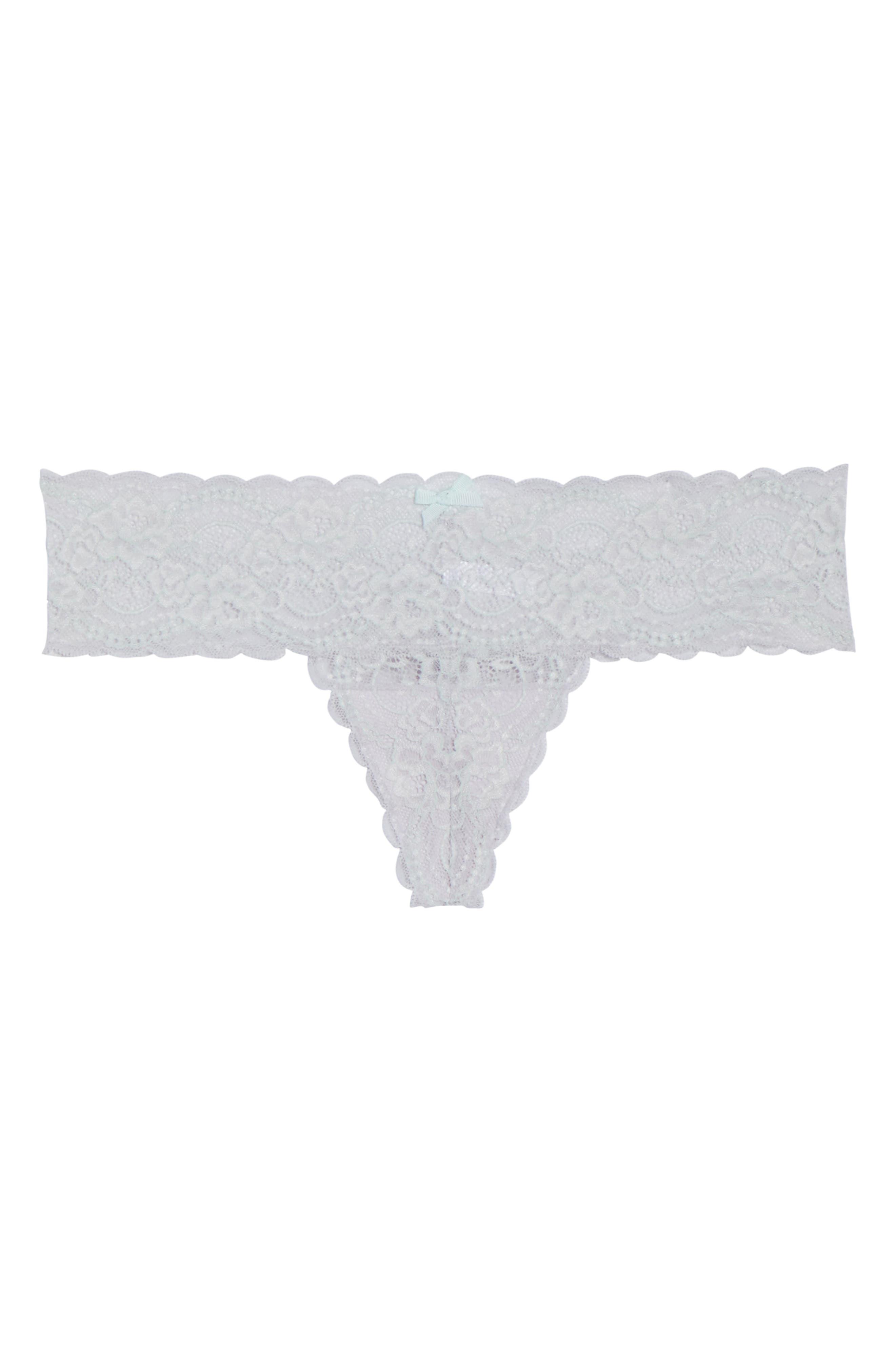 Alternate Image 4  - Skarlett Blue 'Obsessed' Lace Thong (3 for $45)