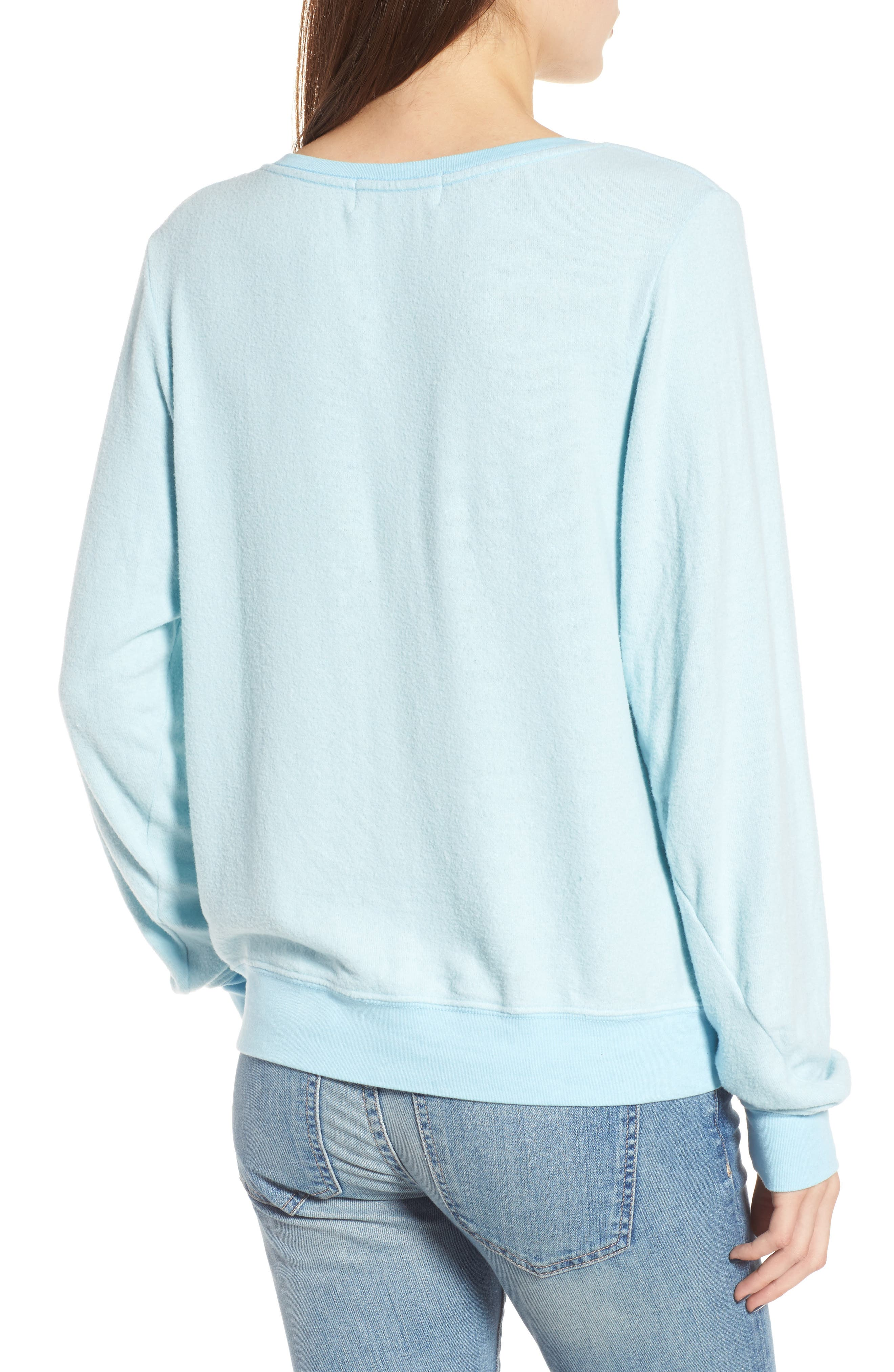 Rainbow Bright Sweatshirt,                             Alternate thumbnail 2, color,                             Honolulu Blue