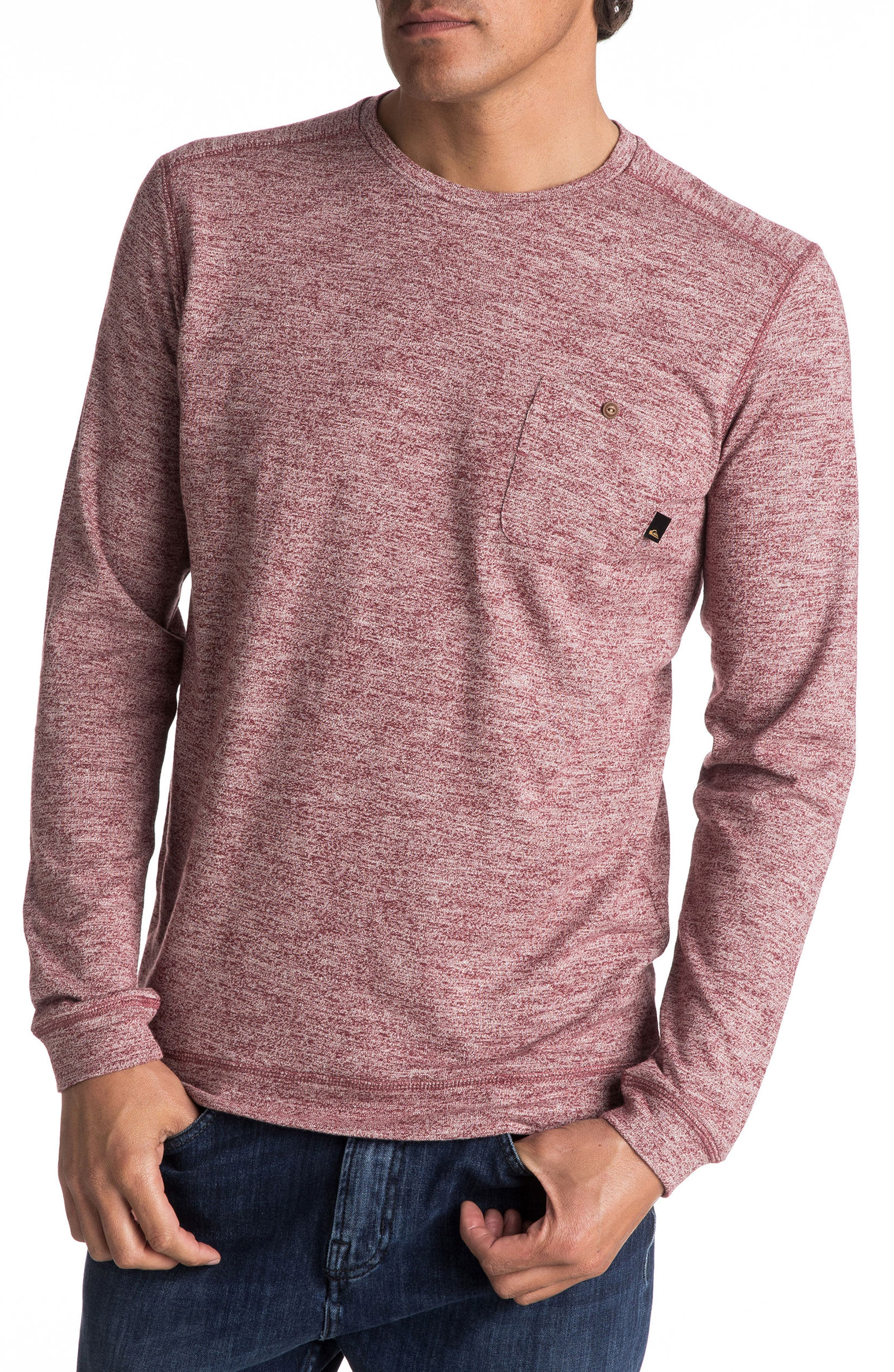 Lindow Marled Sweater,                         Main,                         color, Pomegranate Heather