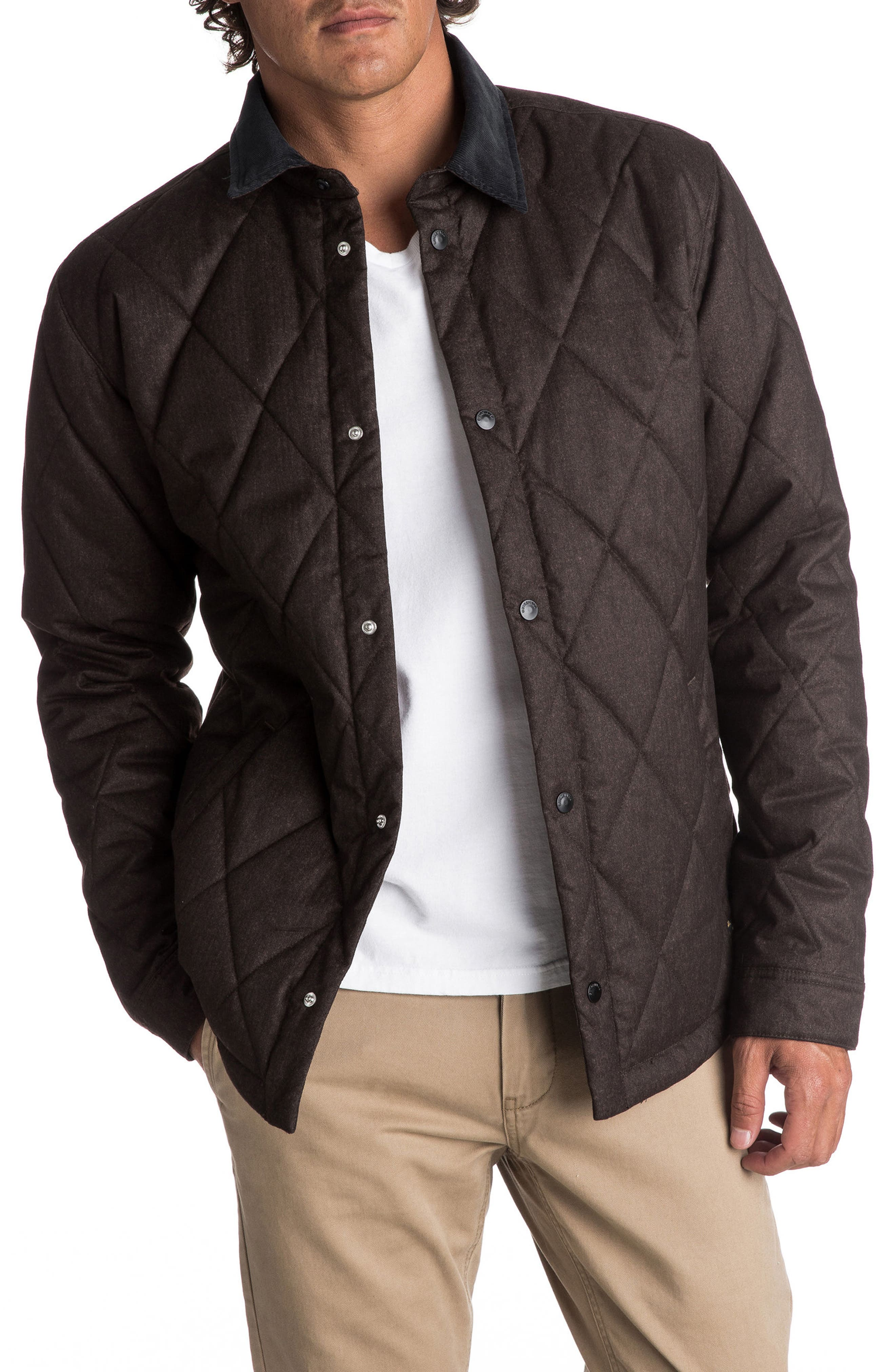 Reesor Quilted Jacket,                         Main,                         color, Chocolate Brown Heather