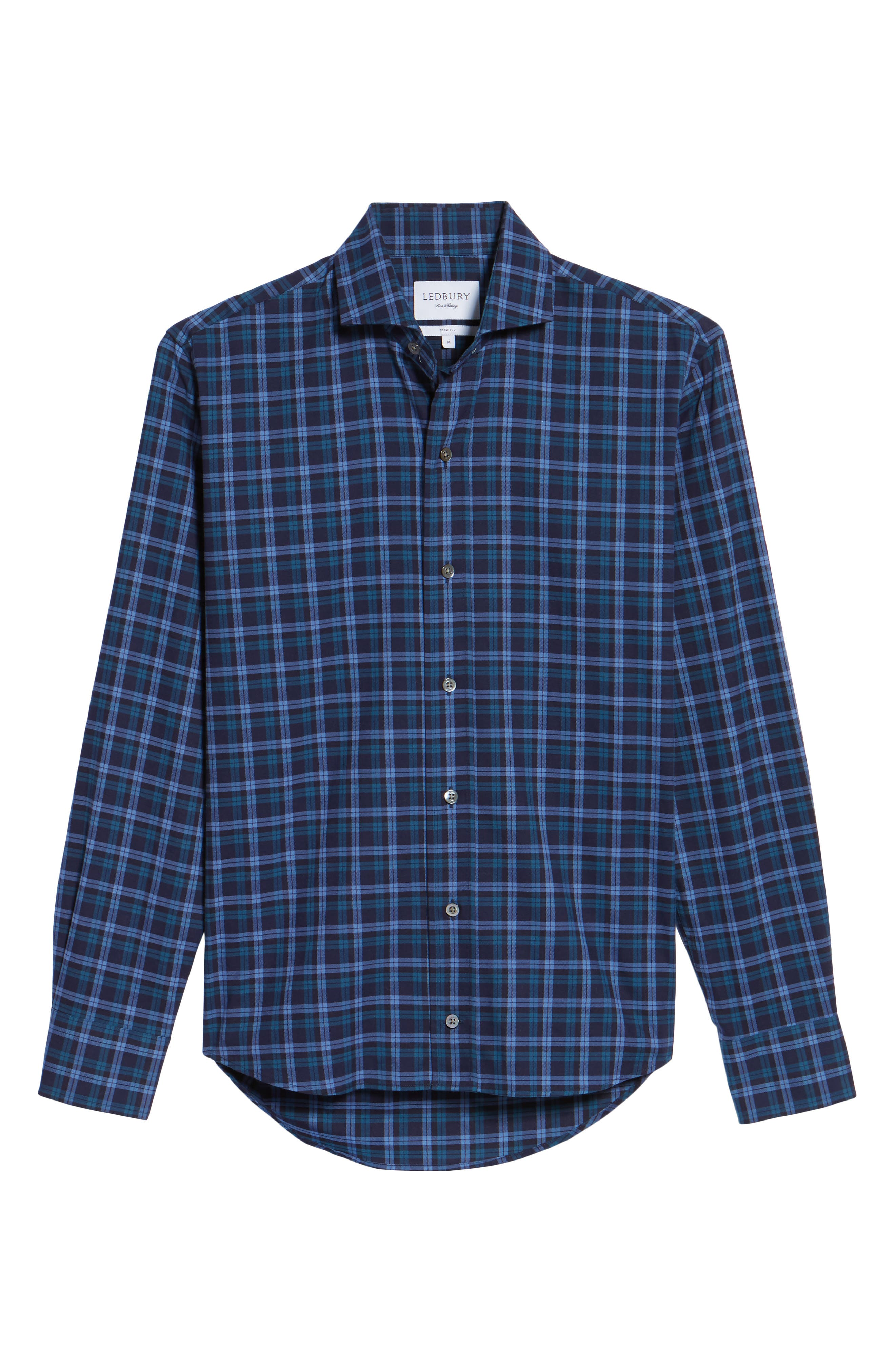 Alternate Image 6  - Ledbury The Blue Goode Slim Fit Plaid Sport Shirt