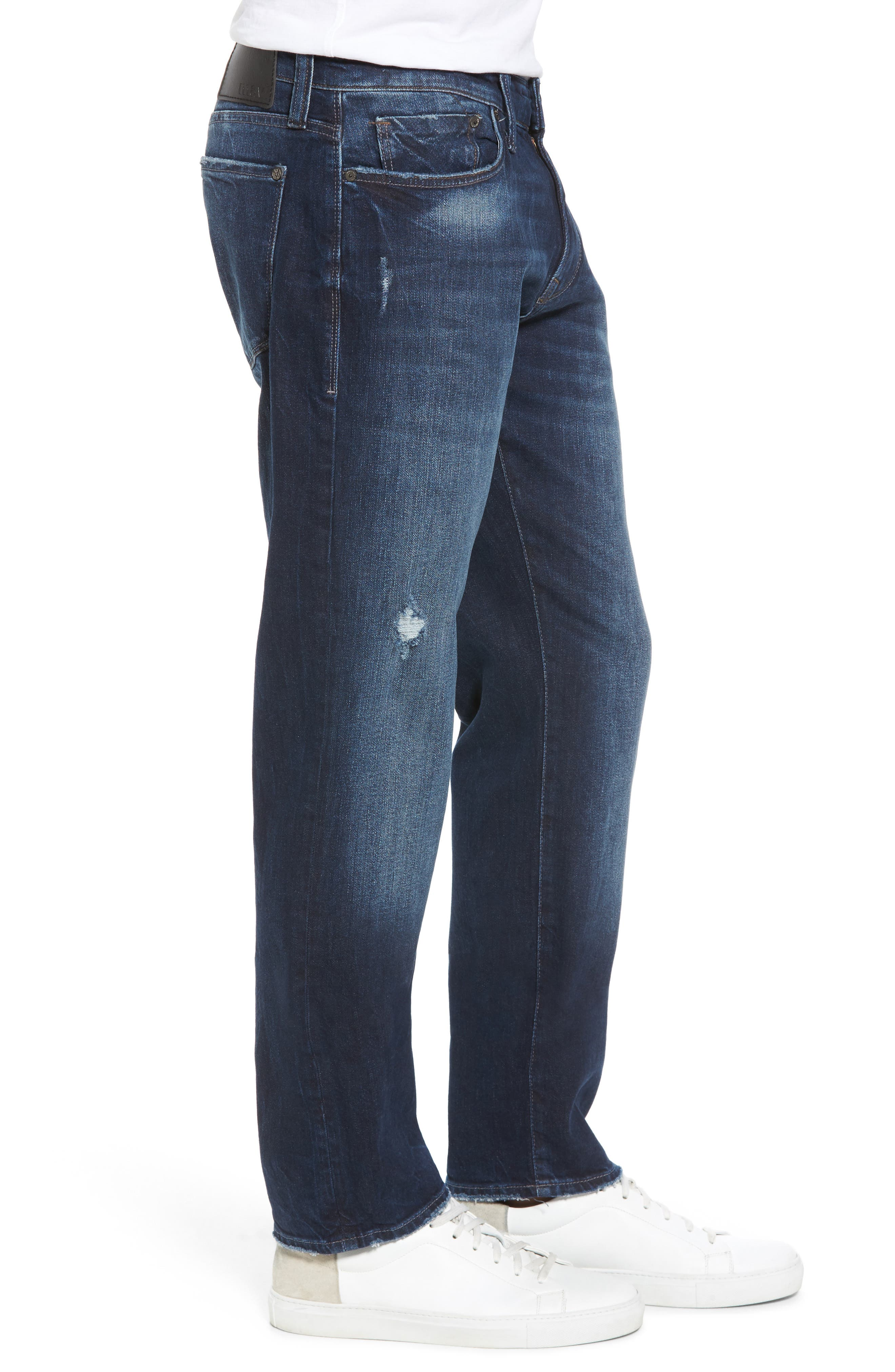 Alternate Image 3  - Mavi Jeans Marcus Slim Straight Leg Jeans (Deep Authentic Vintage)