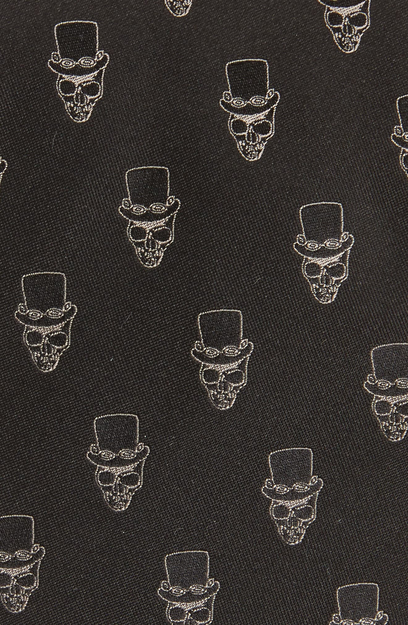 Alternate Image 2  - John Varvatos Star USA Skull Top Hat Silk Tie