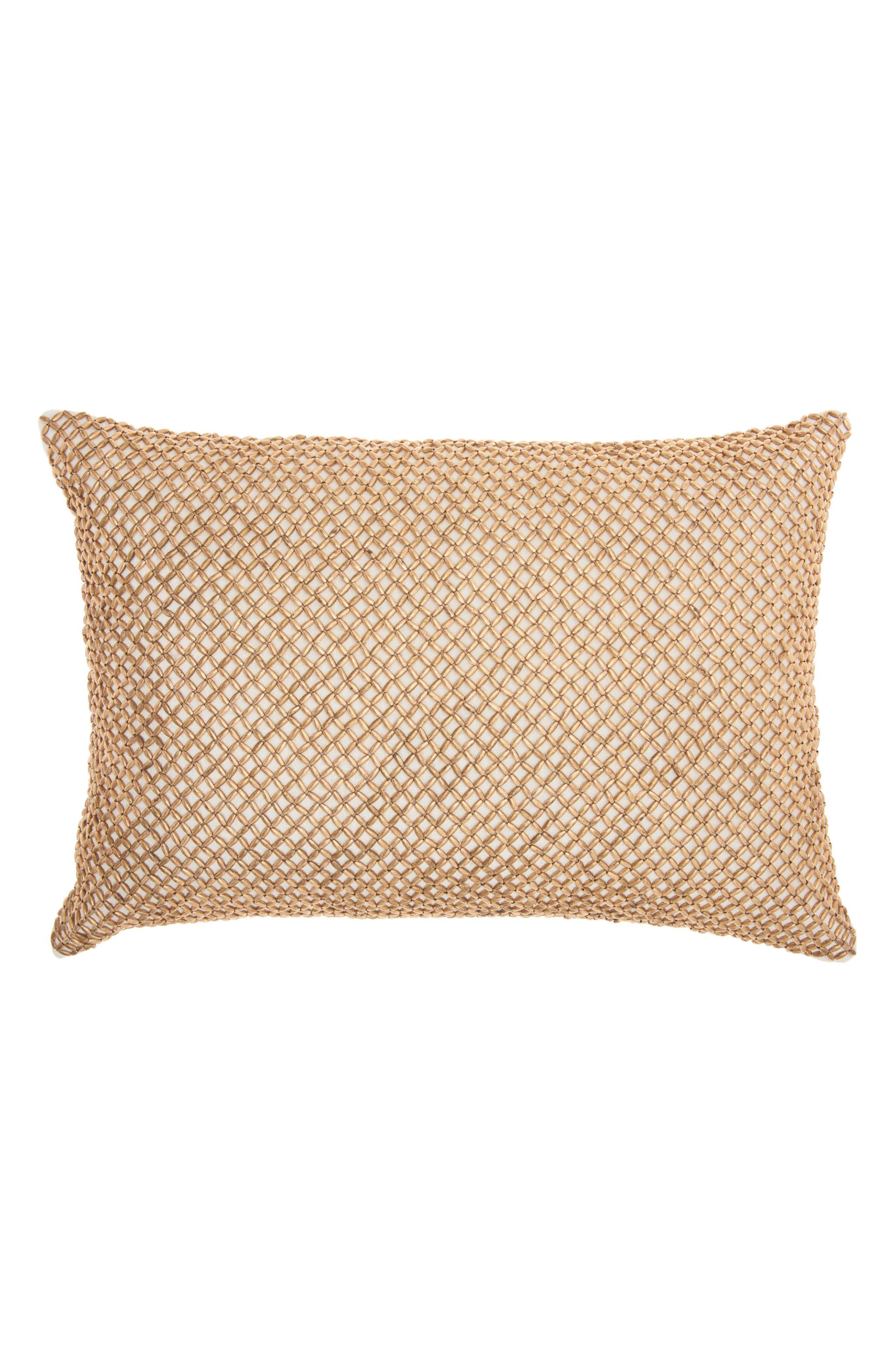 Cobble Jewel Accent Pillow,                         Main,                         color, Cream