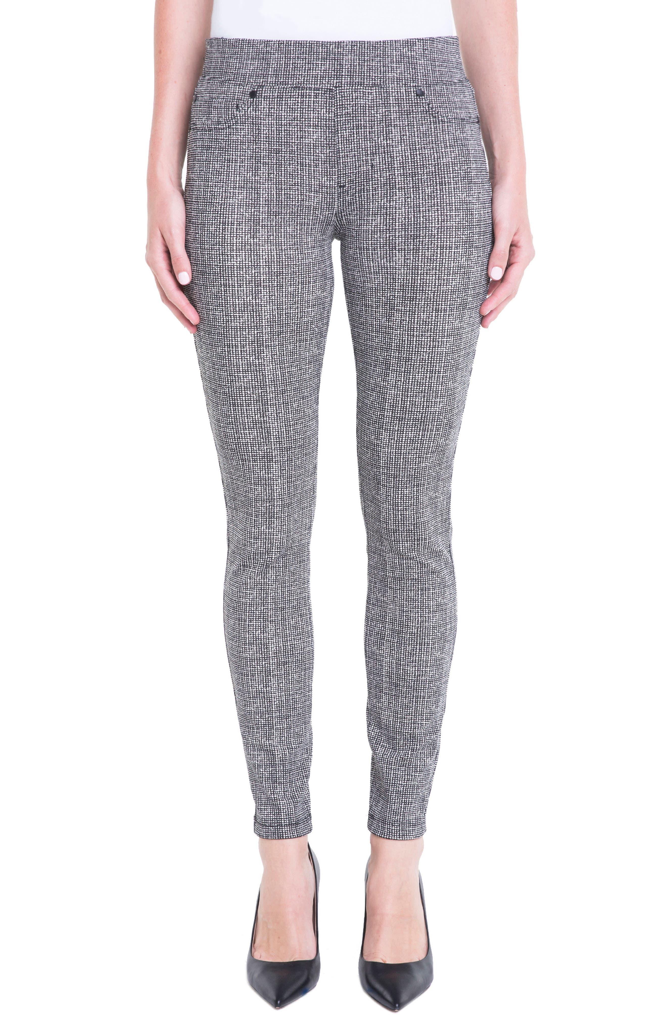 Sienna Pull-On Leggings,                         Main,                         color, White Whisper Tweed