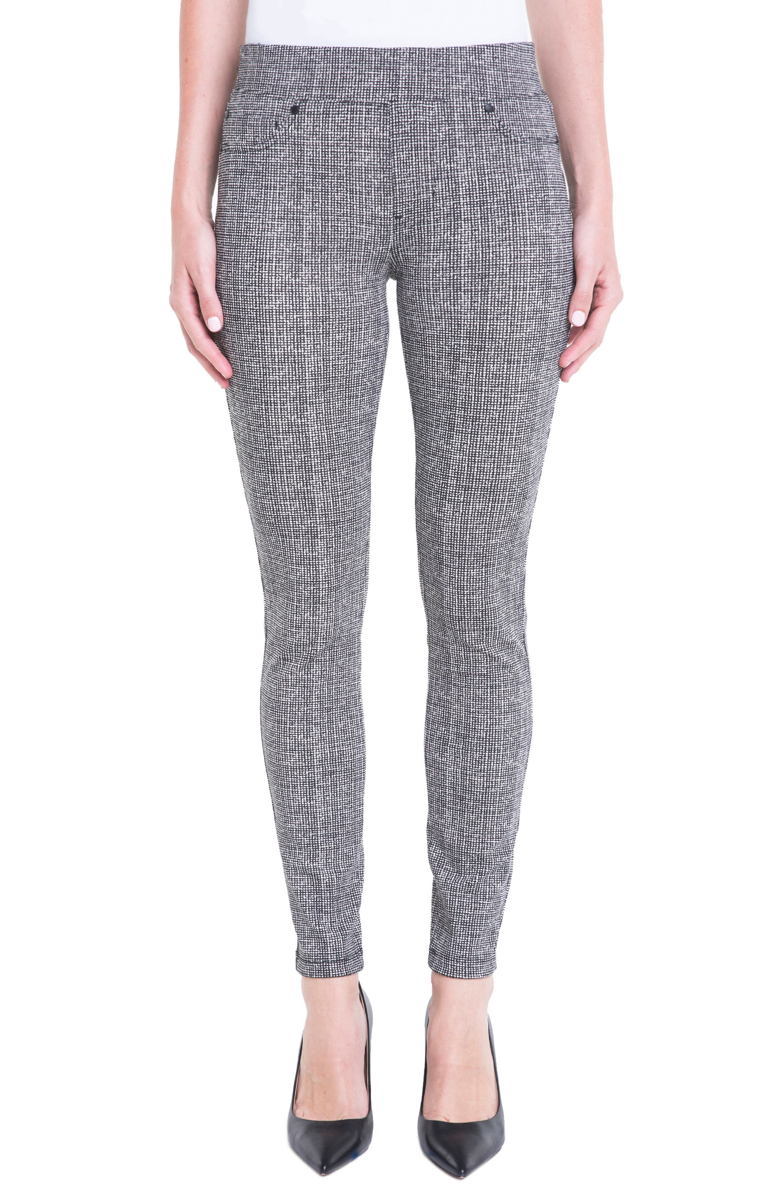 Liverpool Jeans Company Sienna Pull-On Leggings (White Whisper Tweed)